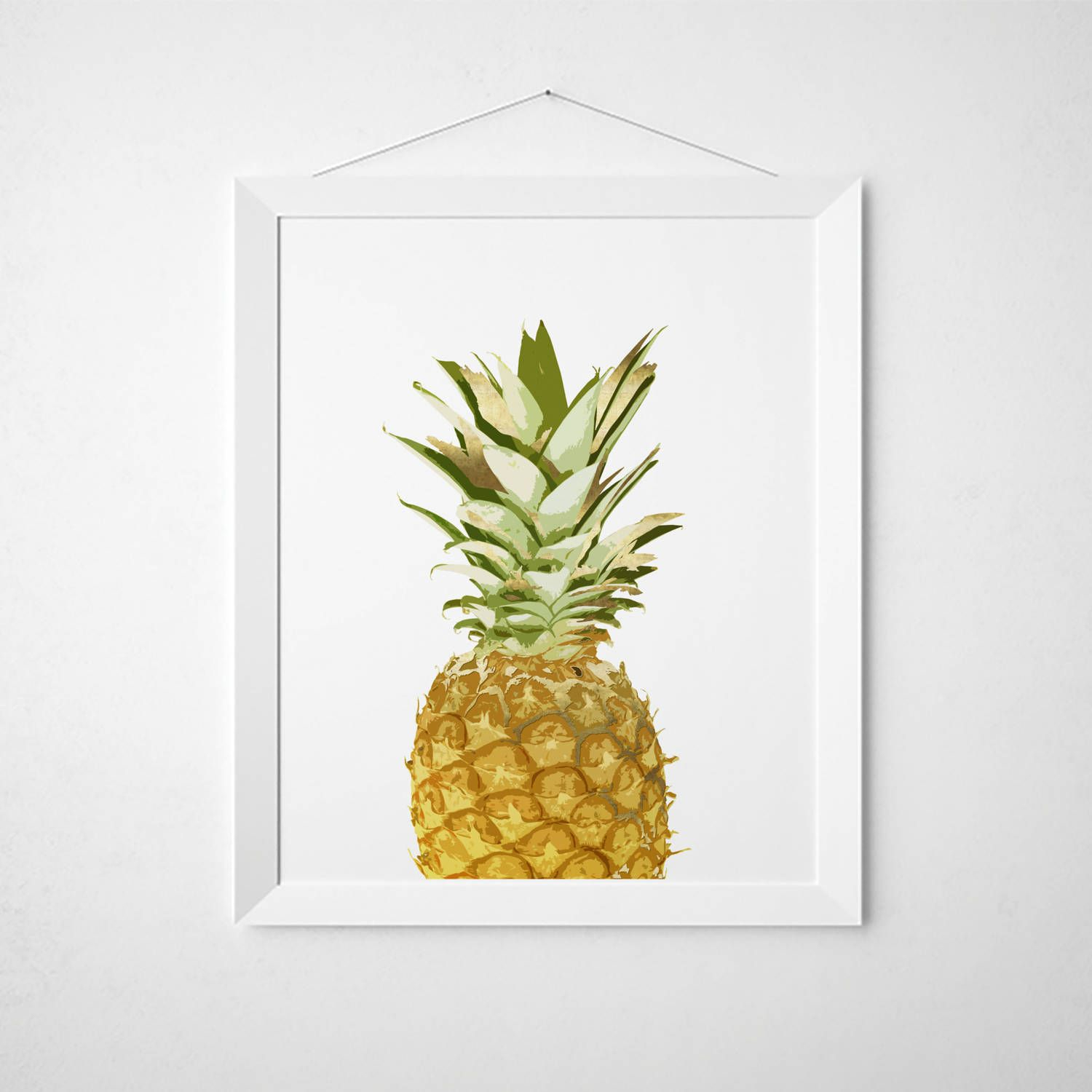 Pineapple Wall Decor – Pineapple Wall Art – Fruit Print With Pineapple Wall Decor (View 6 of 30)