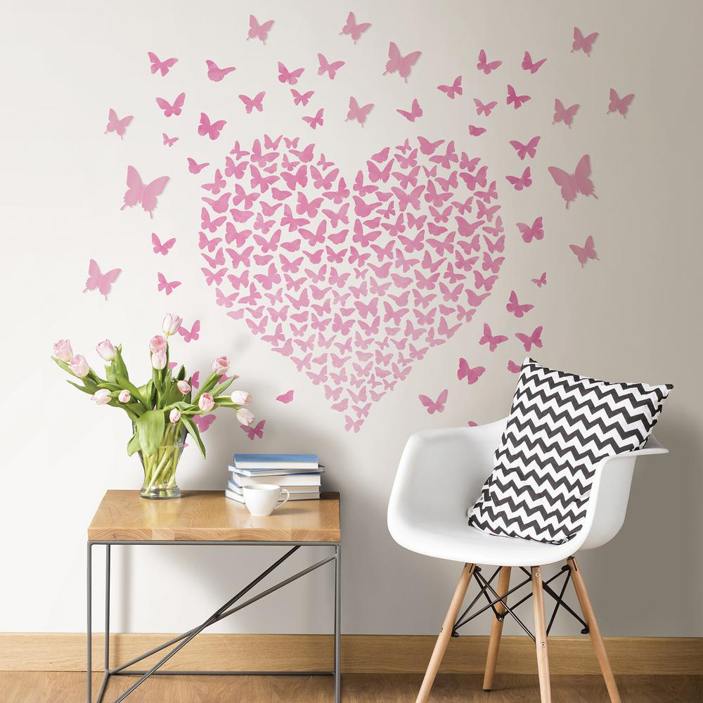 Pink Heart To Heart Wall Quote inside Mariposa 9 Piece Wall Decor (Image 20 of 30)