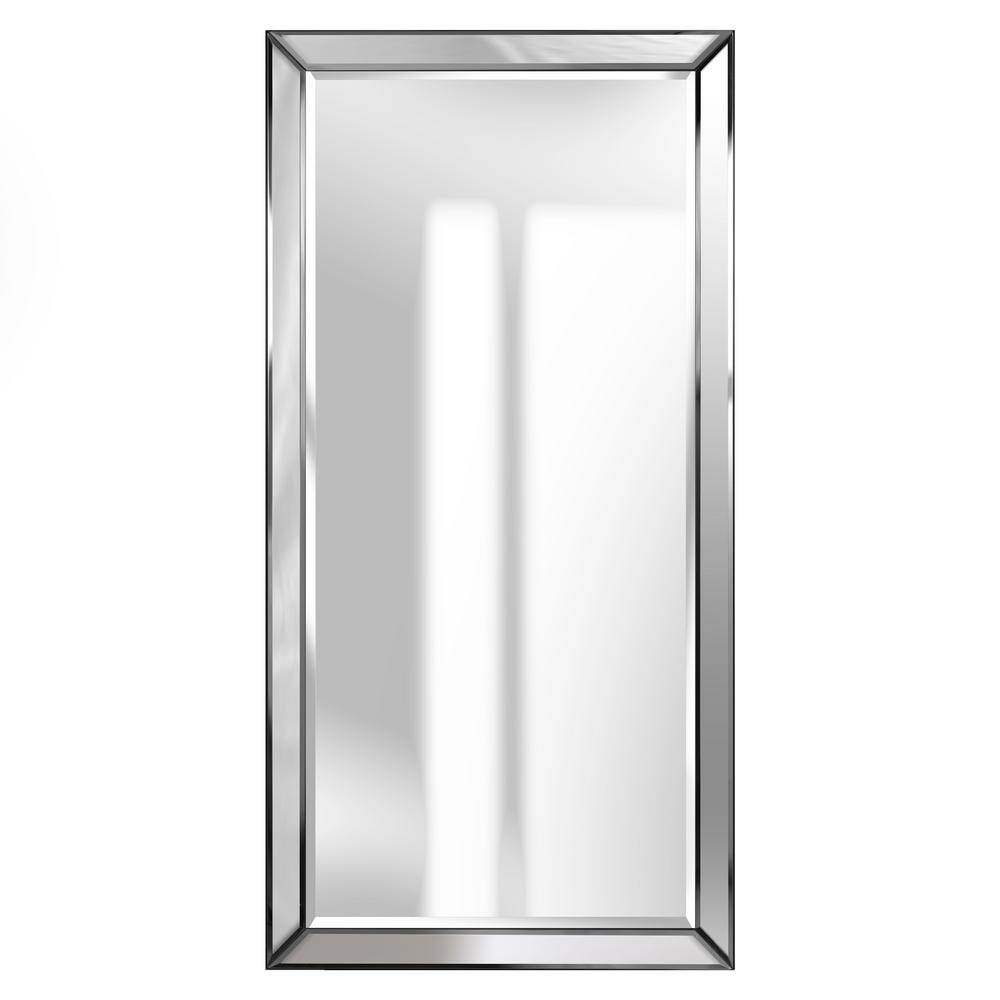 Pinnacle Beveled Accent Rectangular Silver Decorative Mirror Inside Modern & Contemporary Beveled Accent Mirrors (View 27 of 30)