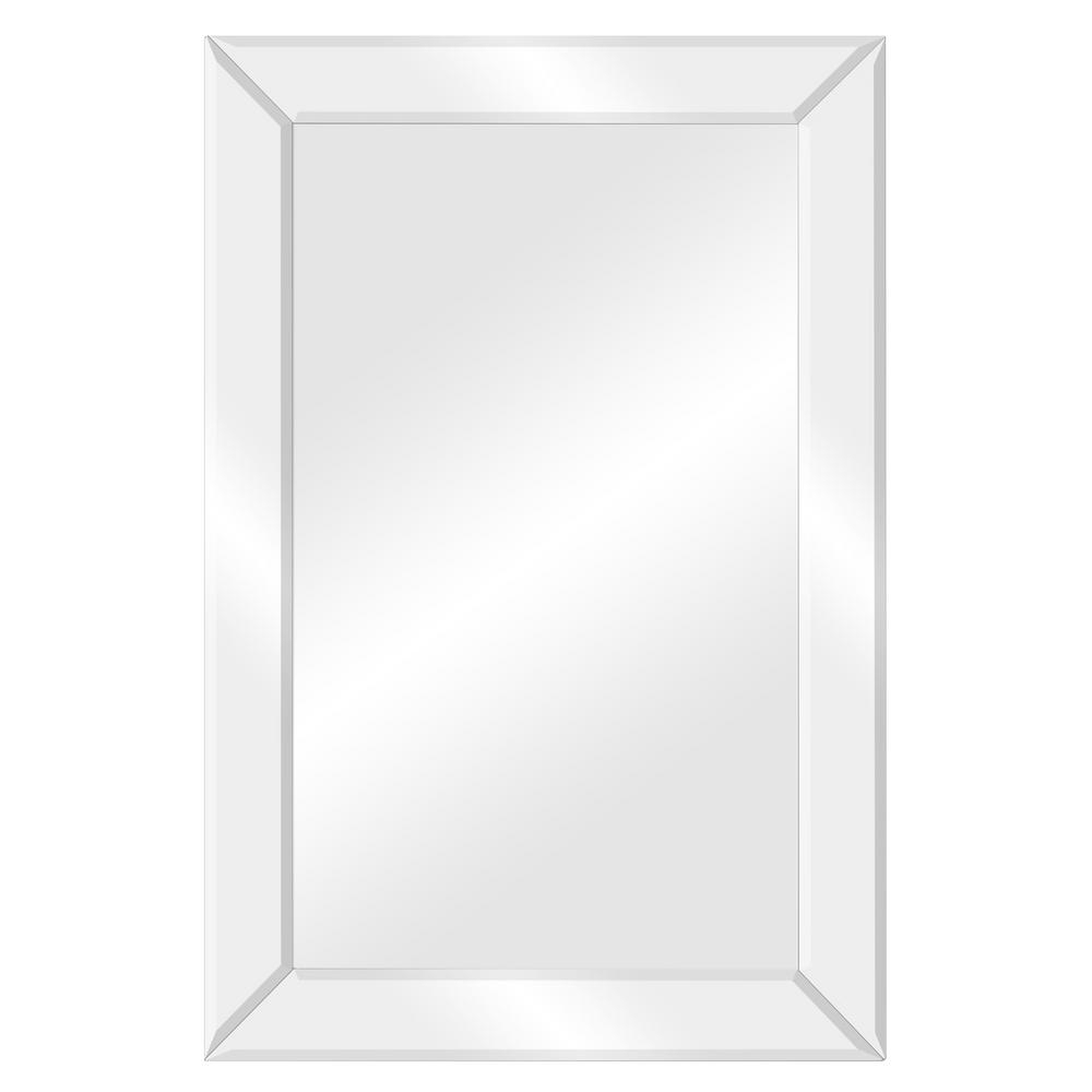 Pinnacle Beveled Accent Rectangular Silver Decorative Mirror Regarding Glam Beveled Accent Mirrors (View 16 of 30)