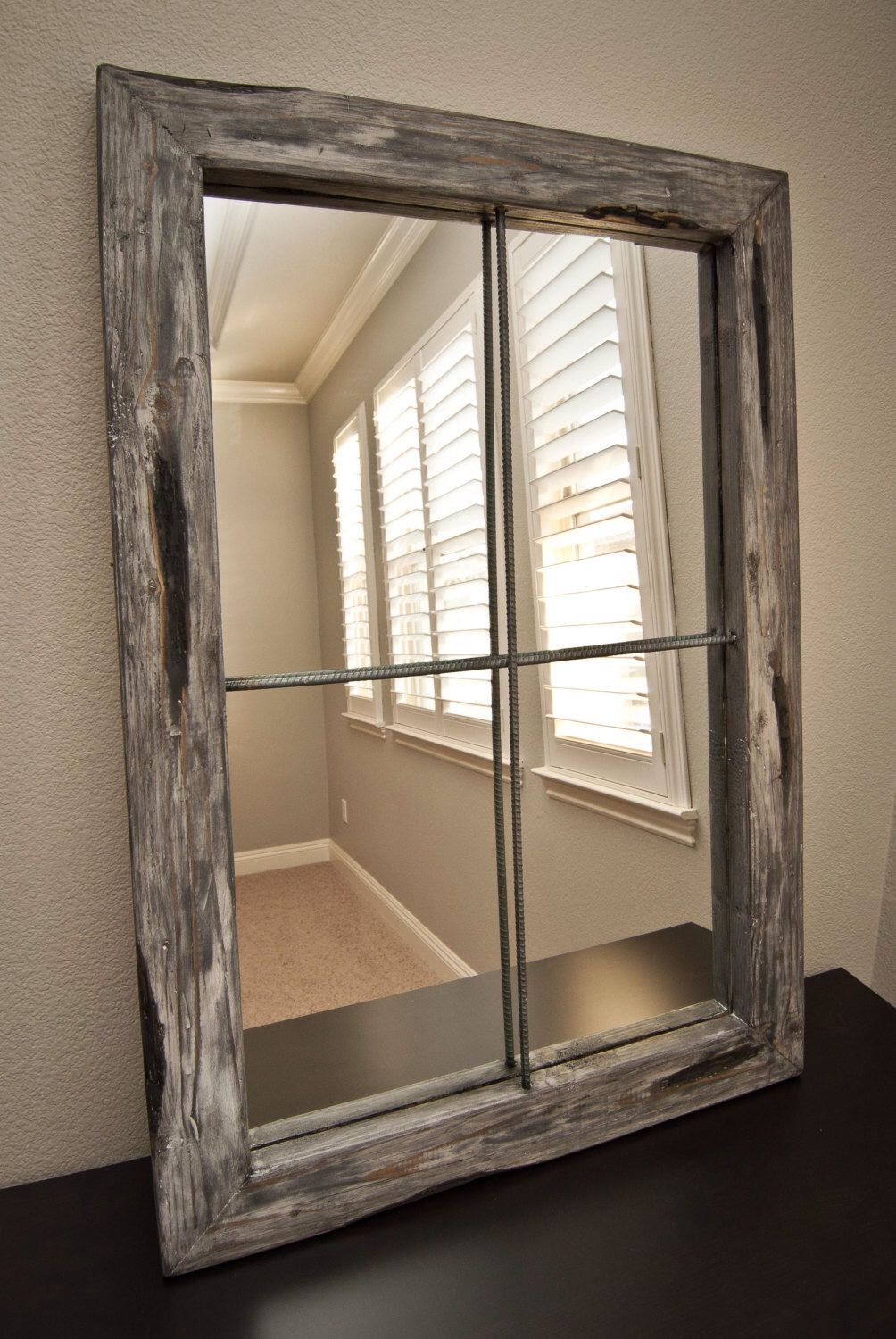 Pintrudy Layton On For The Home In 2019 | Faux Window Throughout Faux Window Wood Wall Mirrors (View 15 of 30)