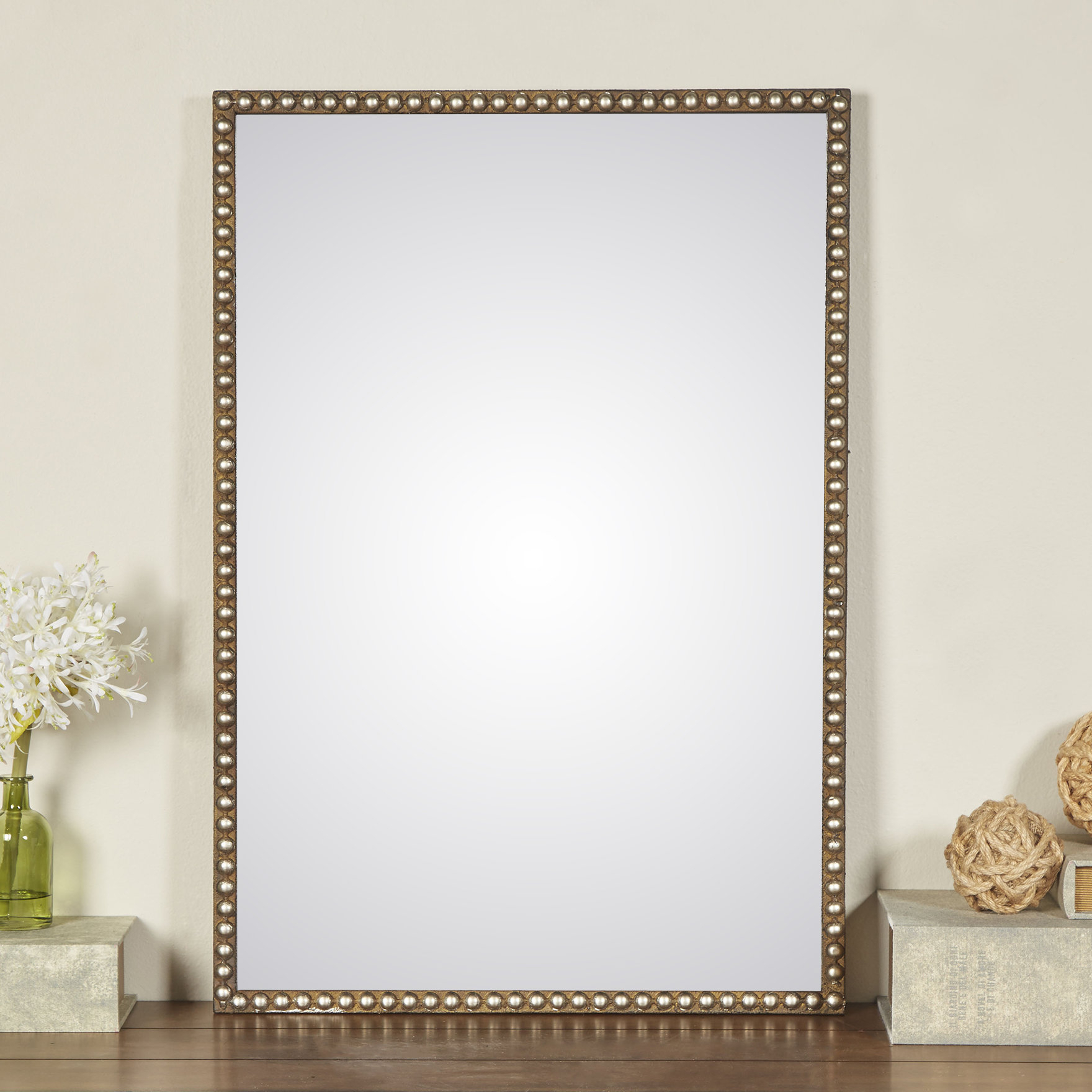 Pioche Traditional Wall Mirror Inside Lake Park Beveled Beaded Accent Wall Mirrors (View 19 of 30)