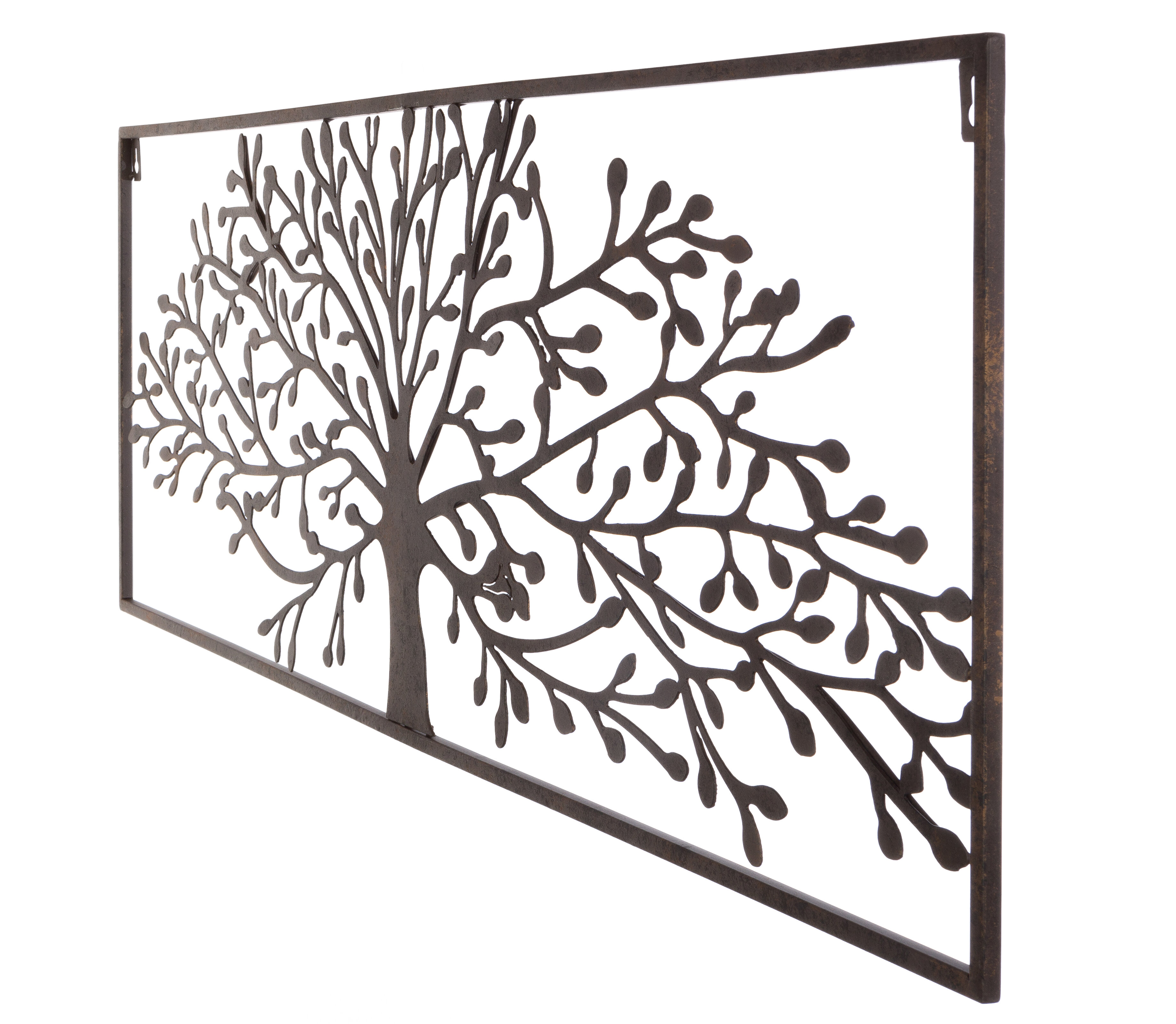 Plasma Cut Oak Tree Wall Decor Inside Windswept Tree Wall Decor By World Menagerie (View 5 of 30)