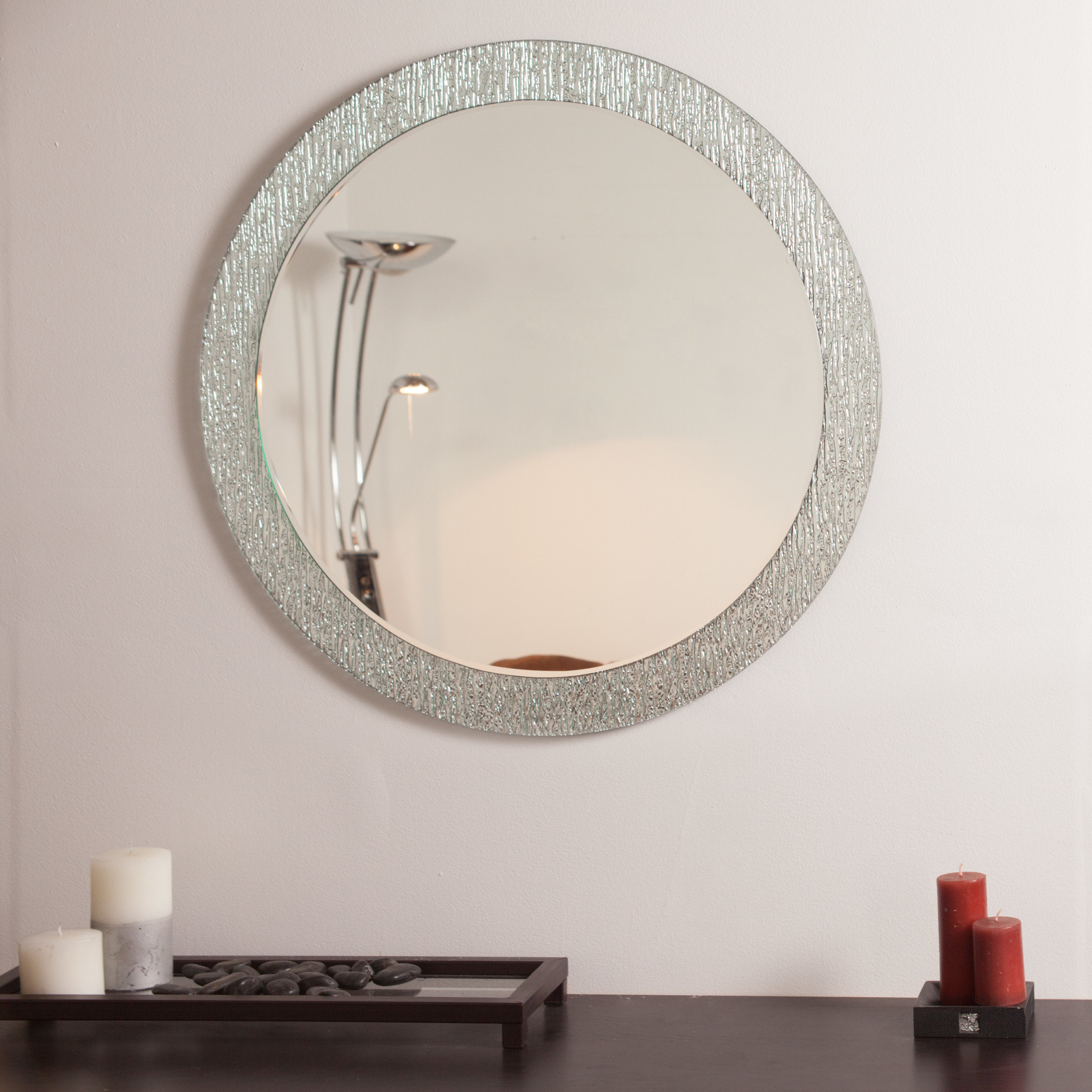Point Reyes Molten Round Wall Mirror & Reviews | Joss & Main pertaining to Point Reyes Molten Round Wall Mirrors (Image 17 of 30)