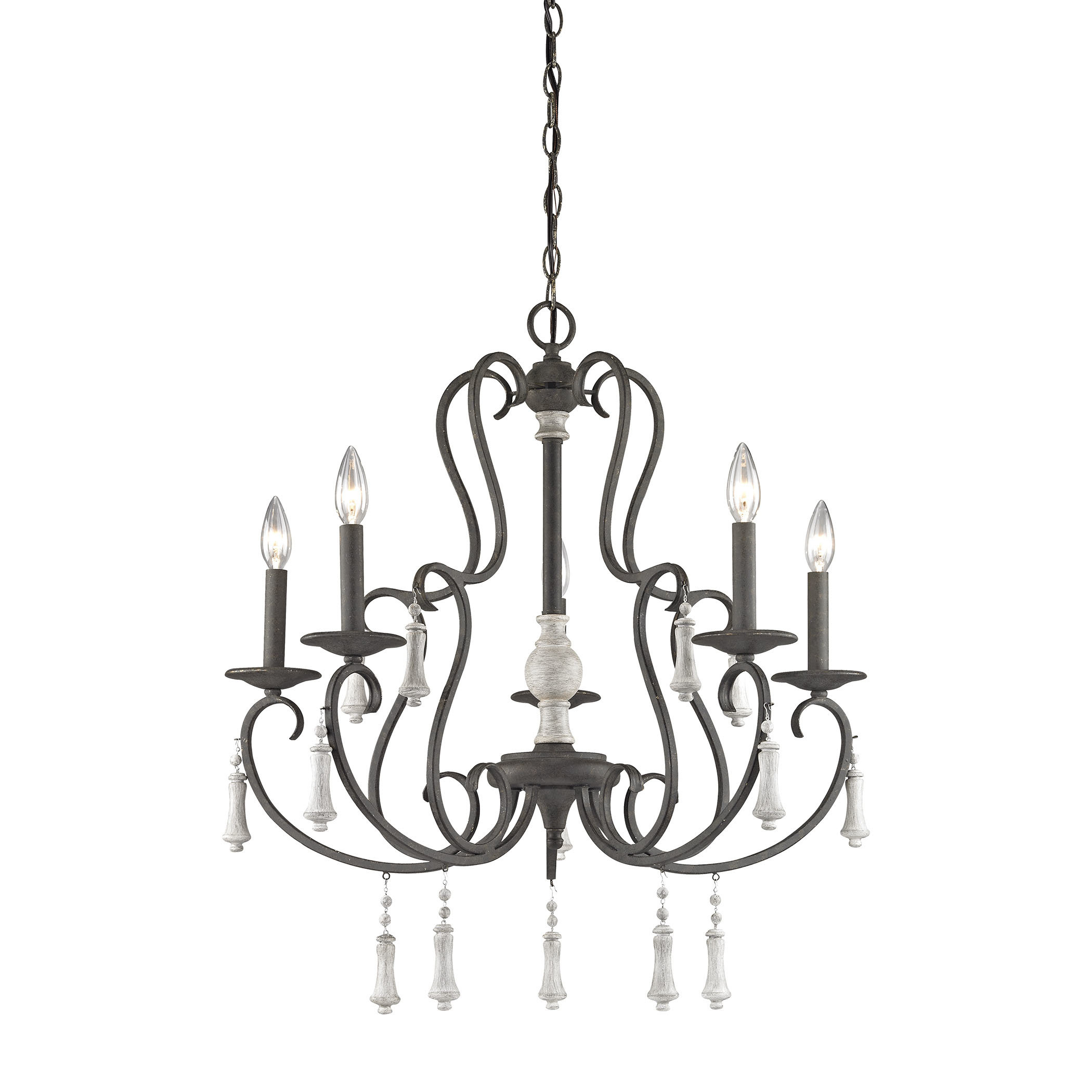 Pollitt 5 Light Chandelier Pertaining To Gaines 9 Light Candle Style Chandeliers (View 14 of 30)