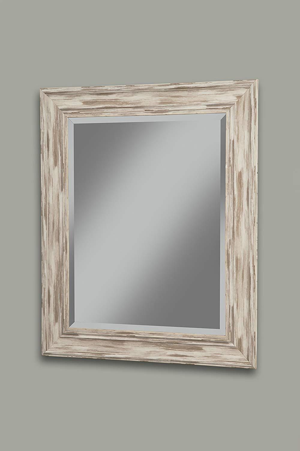 Polystyrene Framed Wall Mirror With Sharp Edges, Antique pertaining to Bartolo Accent Mirrors (Image 24 of 30)