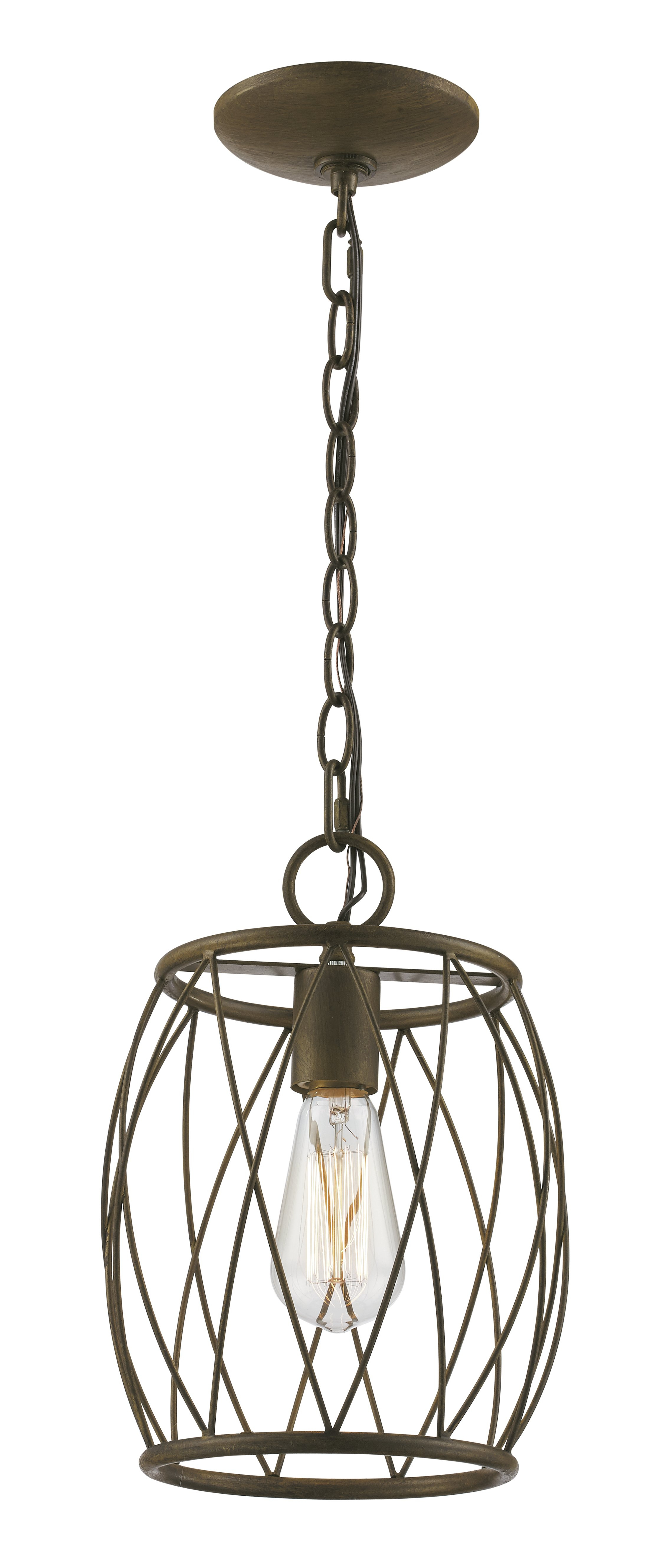 Poynter 1 Light Single Cylinder Pendant With Cinchring 1 Light Cone Pendants (View 24 of 30)
