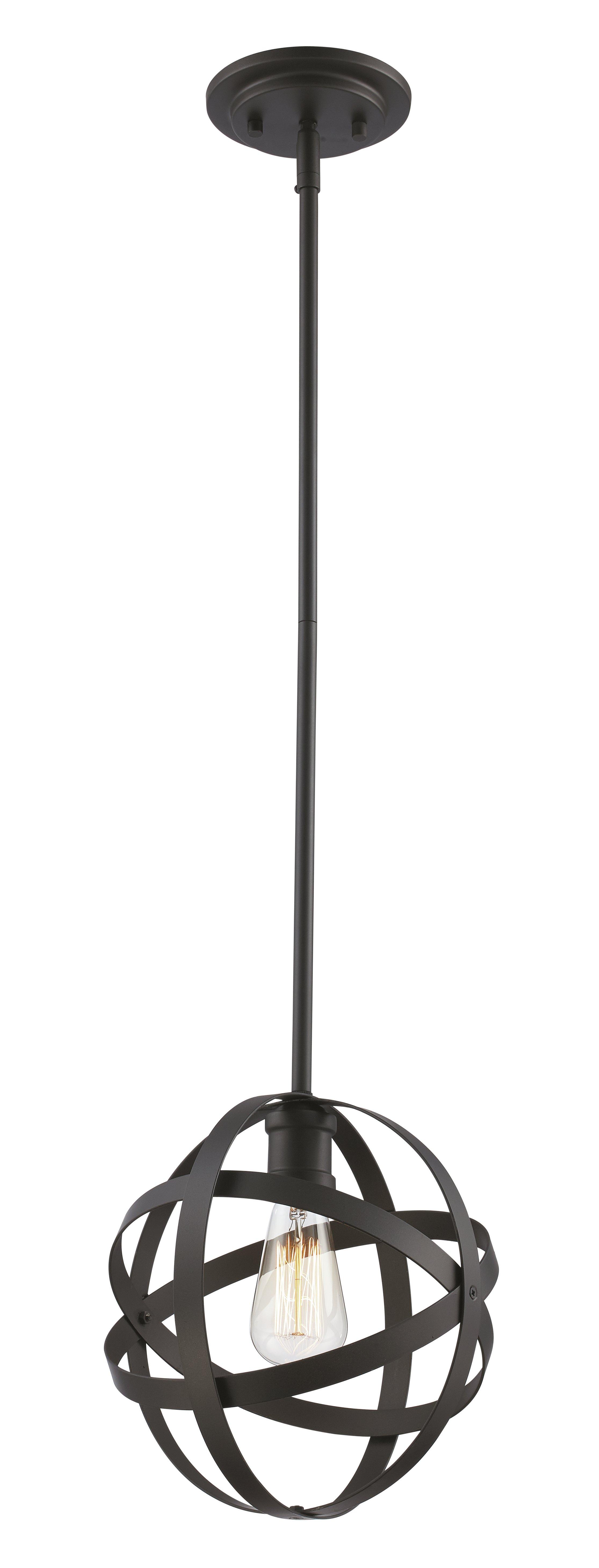 Prange 1 Light Single Globe Pendant In Prange 1 Light Single Globe Pendants (View 3 of 30)
