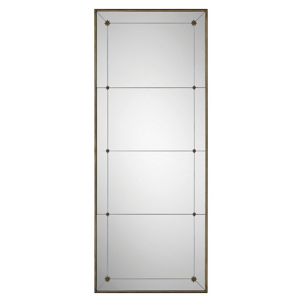 Preston Leaner Mirror In Champagne, Bronze Inside Medallion Accent Mirrors (View 26 of 30)
