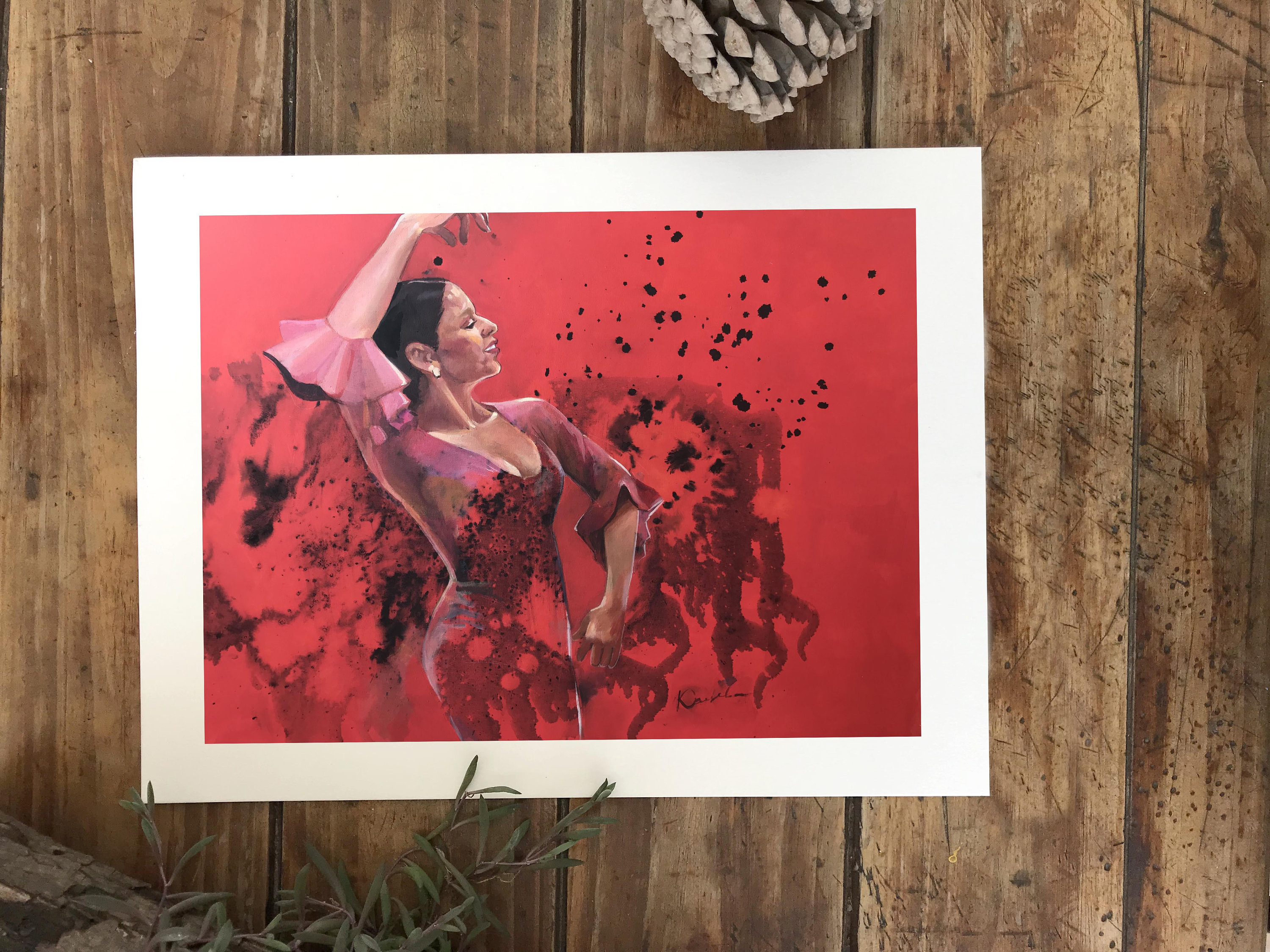 Print Of Acrylic Painting, Spanish Dances, Ink,home Decor Art Print, Flamenco, Wall Art, Dance Expression, Print On Paper Within Dance Of Desire Wall Decor (View 2 of 30)