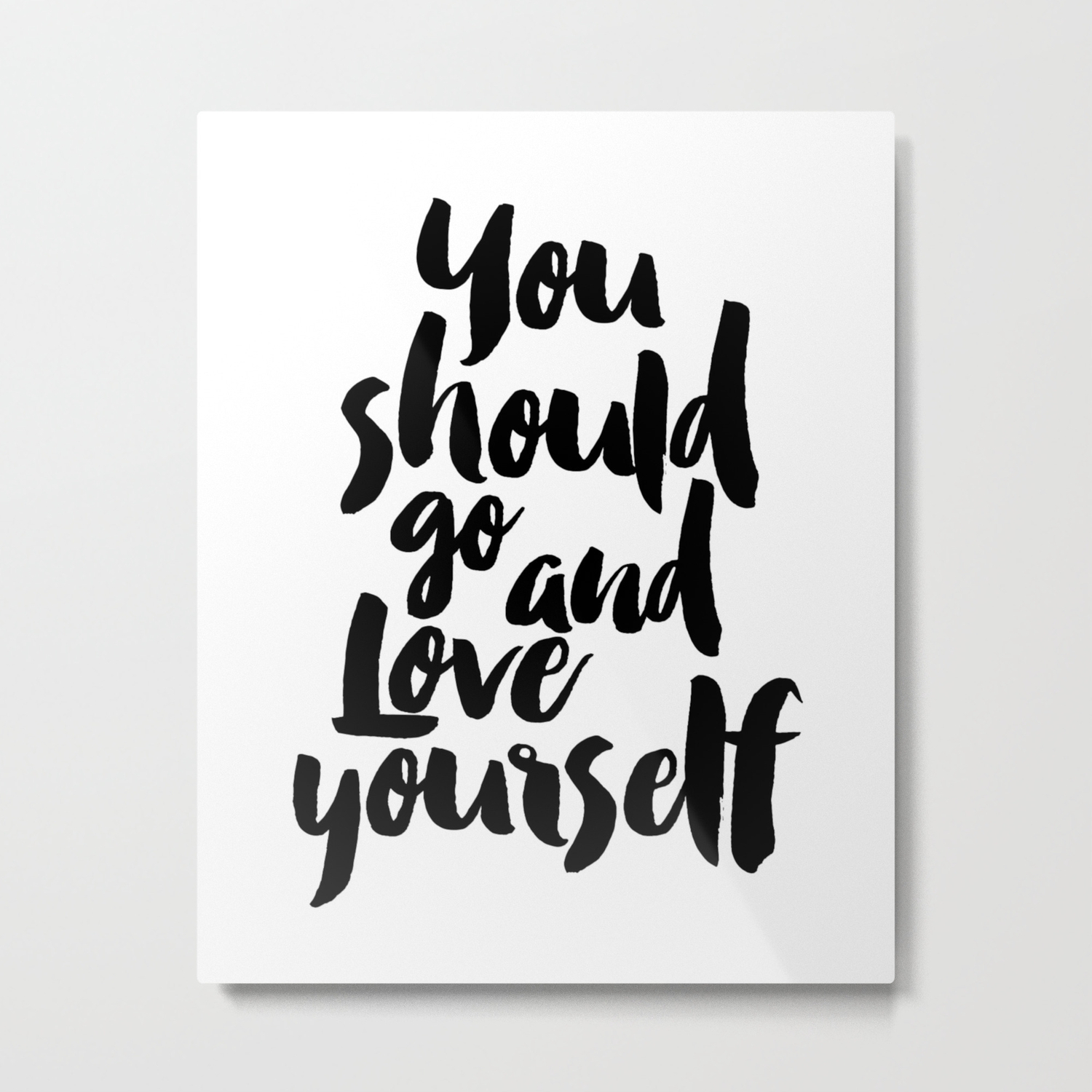 Printable Love Yourself, Typography Poster, Inspirational Print, Motivational Wall Art – Digital Dow Metal Print Intended For Rectangle Like Yourself Inspirational Typography Wall Plaque (View 7 of 30)