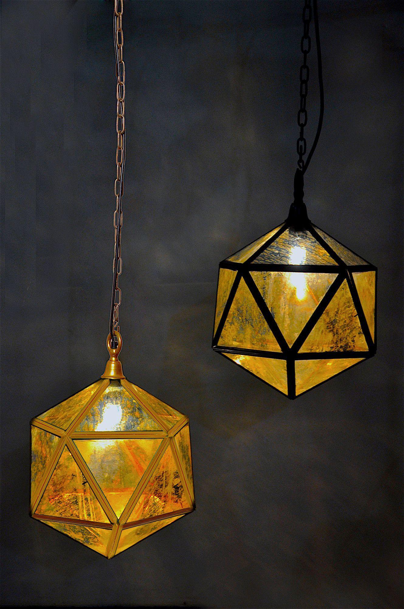 Prisim Mercury Glass 1-Light Geometric Pendant   Products inside 1-Light Geometric Globe Pendants (Image 26 of 30)