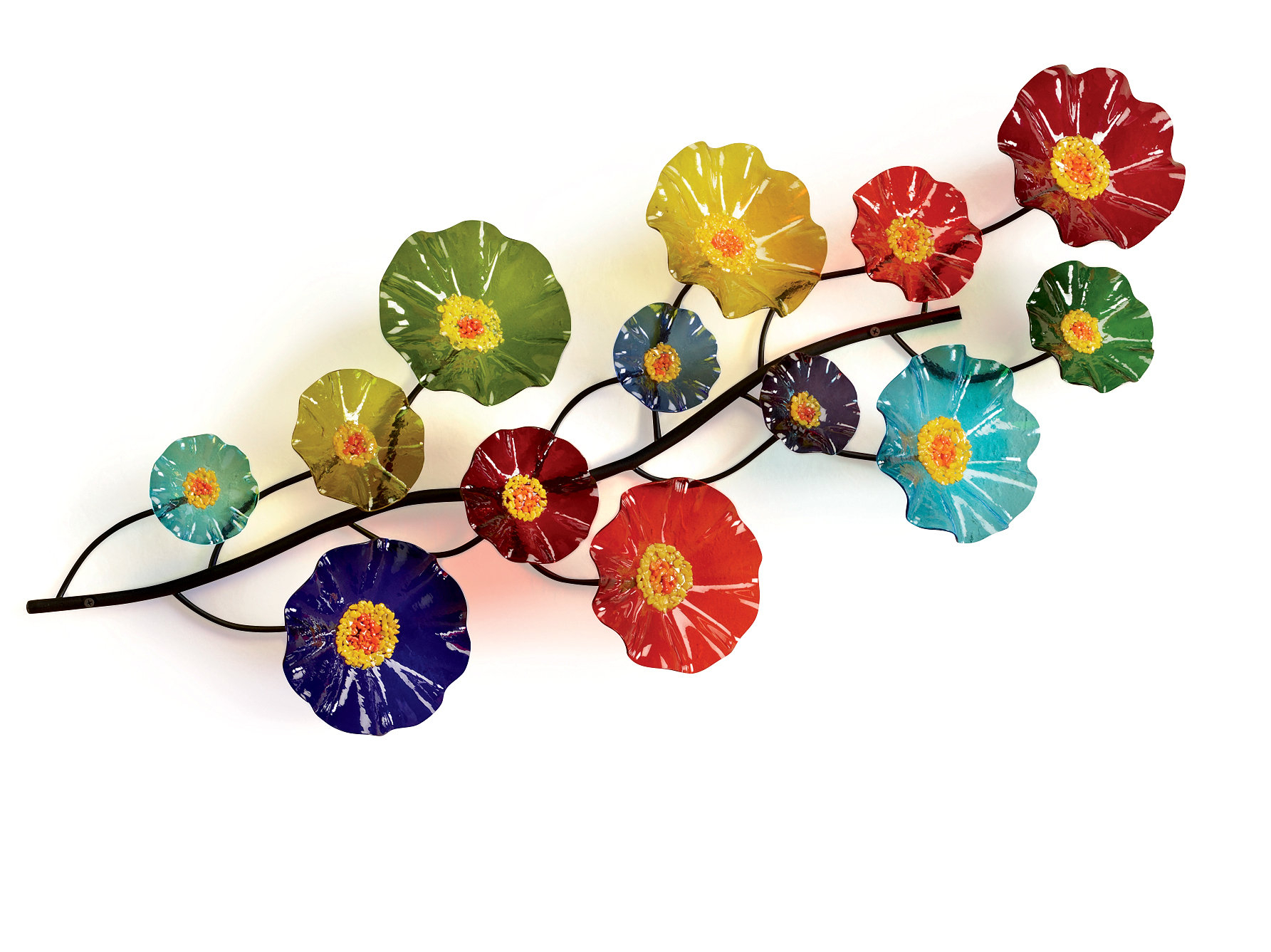 Prism Wall Vinescott Johnson And Shawn Johnson (art Glass Wall Art) | Artful Home For Three Flowers On Vine Wall Decor (View 11 of 30)