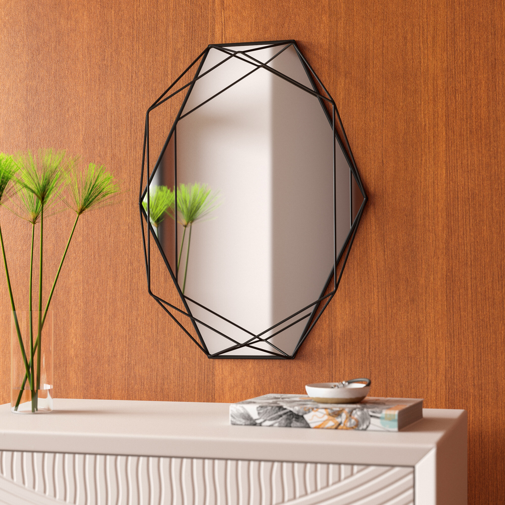Prisma Modern & Contemporary Accent Mirror in Hub Modern and Contemporary Accent Mirrors (Image 19 of 30)