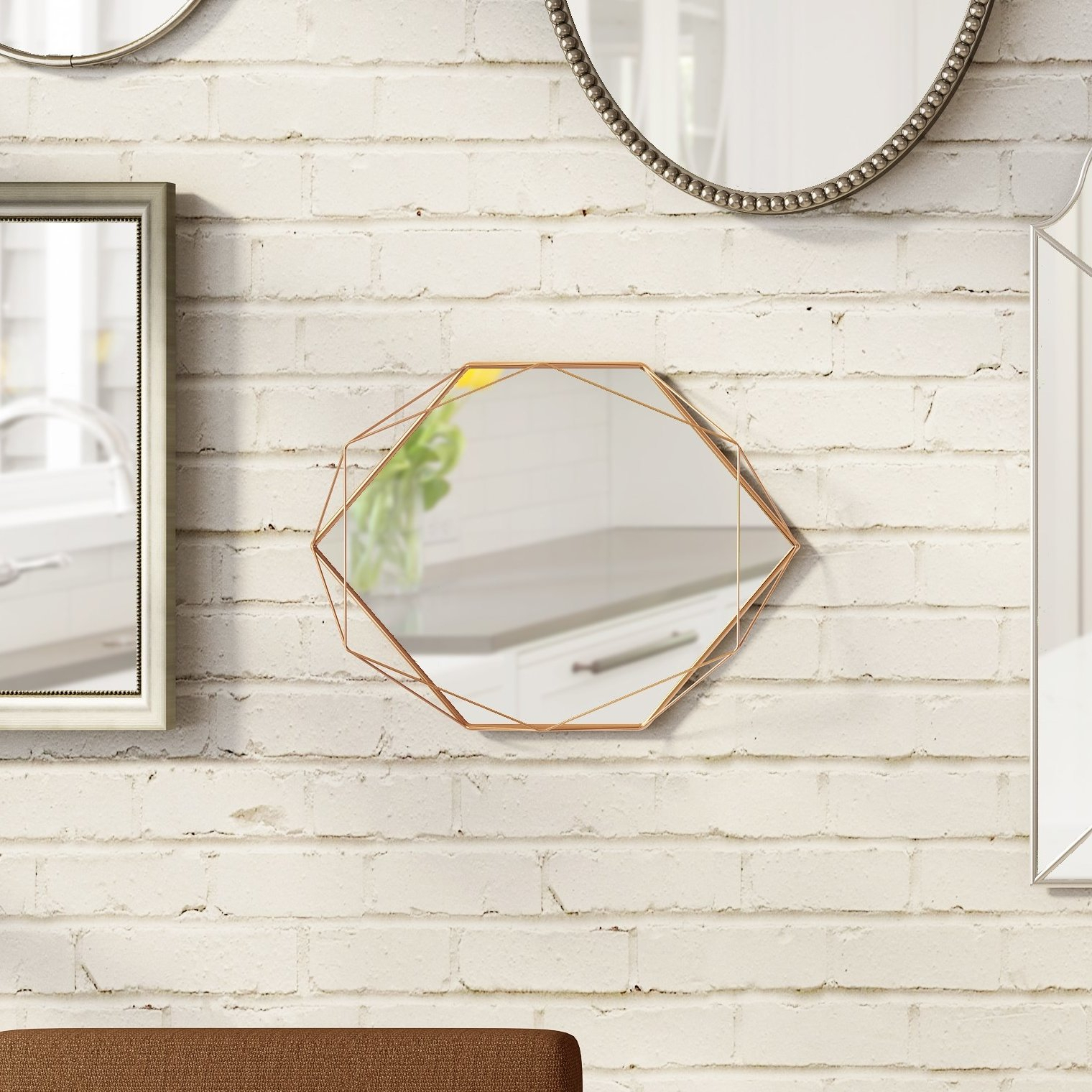 Prisma Modern & Contemporary Accent Mirror With Regard To Guidinha Modern & Contemporary Accent Mirrors (View 7 of 30)