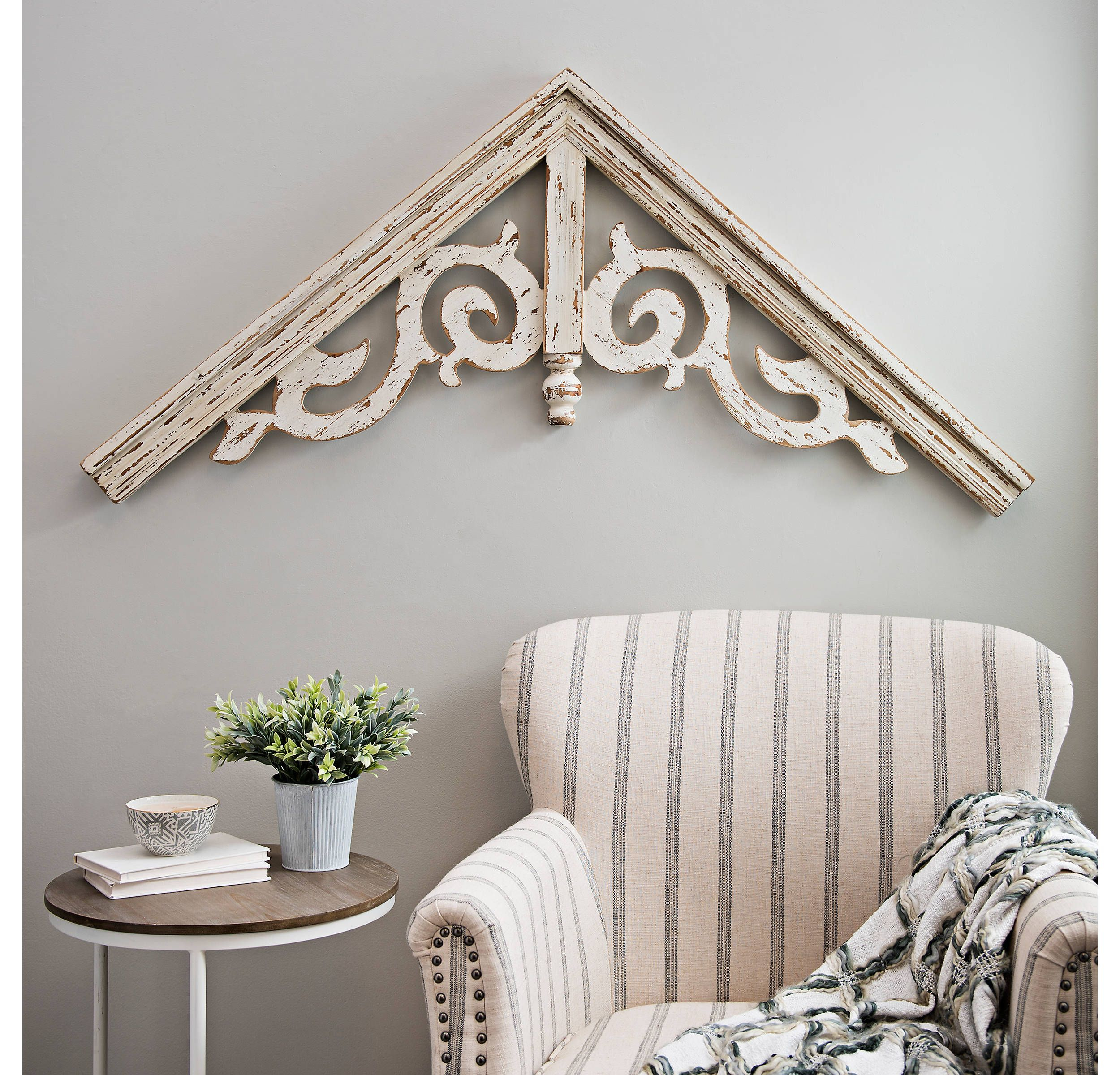 Product Details Corbel Antique White Ornate Scroll Arched throughout Ornate Scroll Wall Decor (Image 14 of 30)