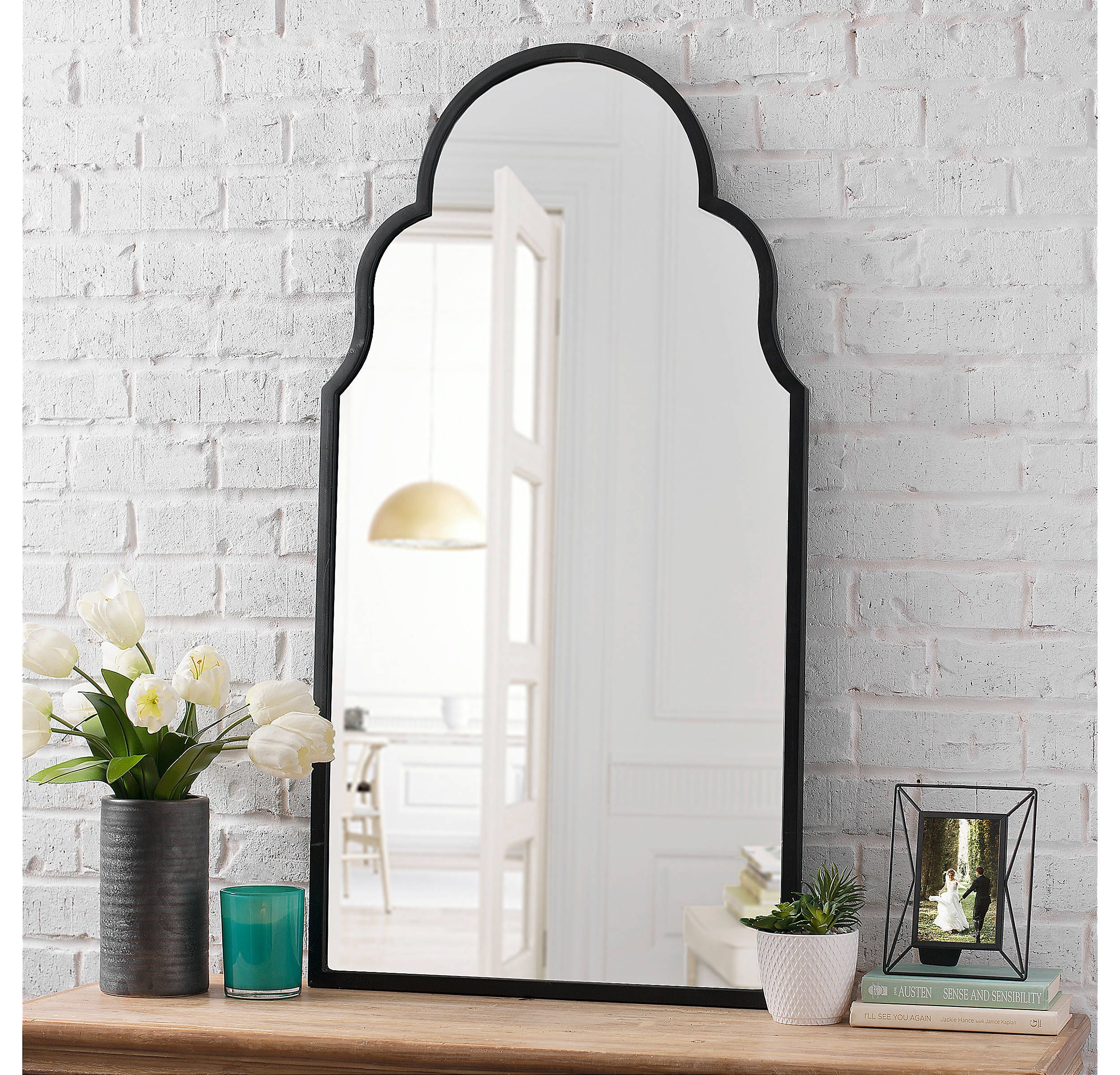 Product Details Maria Metal Black Arch Wall Mirror In 2019 With Regard To Fifi Contemporary Arch Wall Mirrors (View 22 of 30)