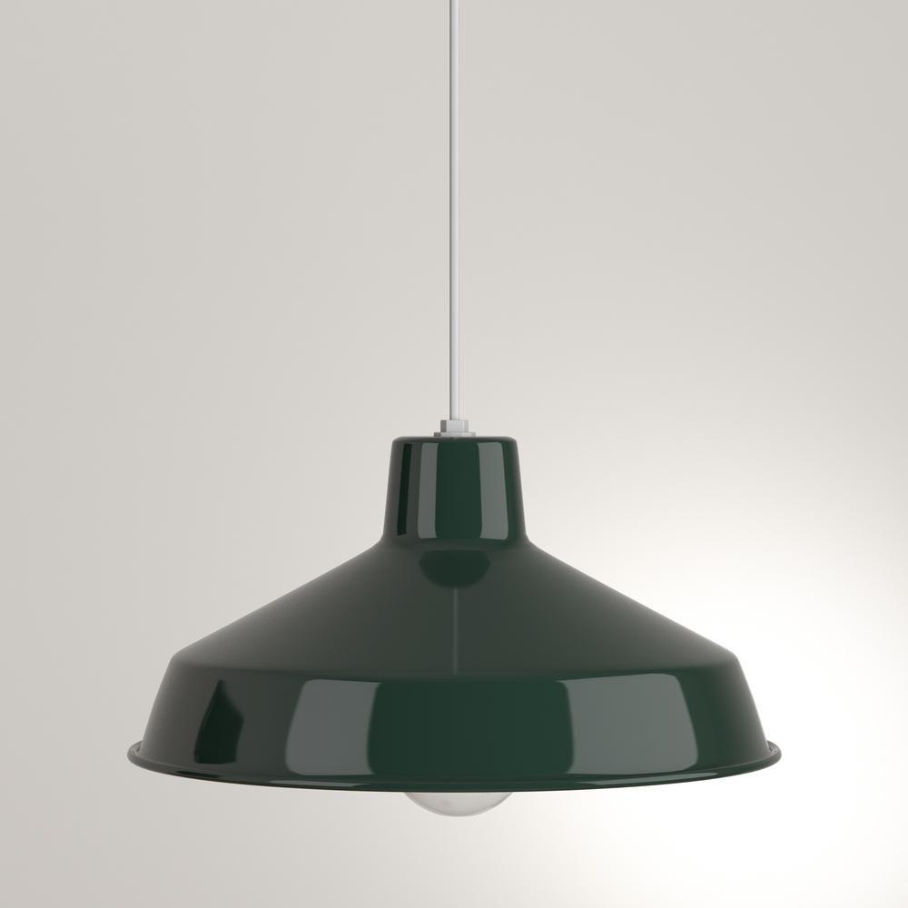 Progress Lighting 1 Light Dark Green Pendant | Light For Gattis 1 Light Dome Pendants (View 15 of 30)