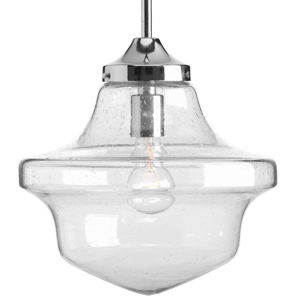 Progress Lighting Schoolhouse Collection 1-Light Chrome Pendant for 1-Light Single Schoolhouse Pendants (Image 27 of 30)
