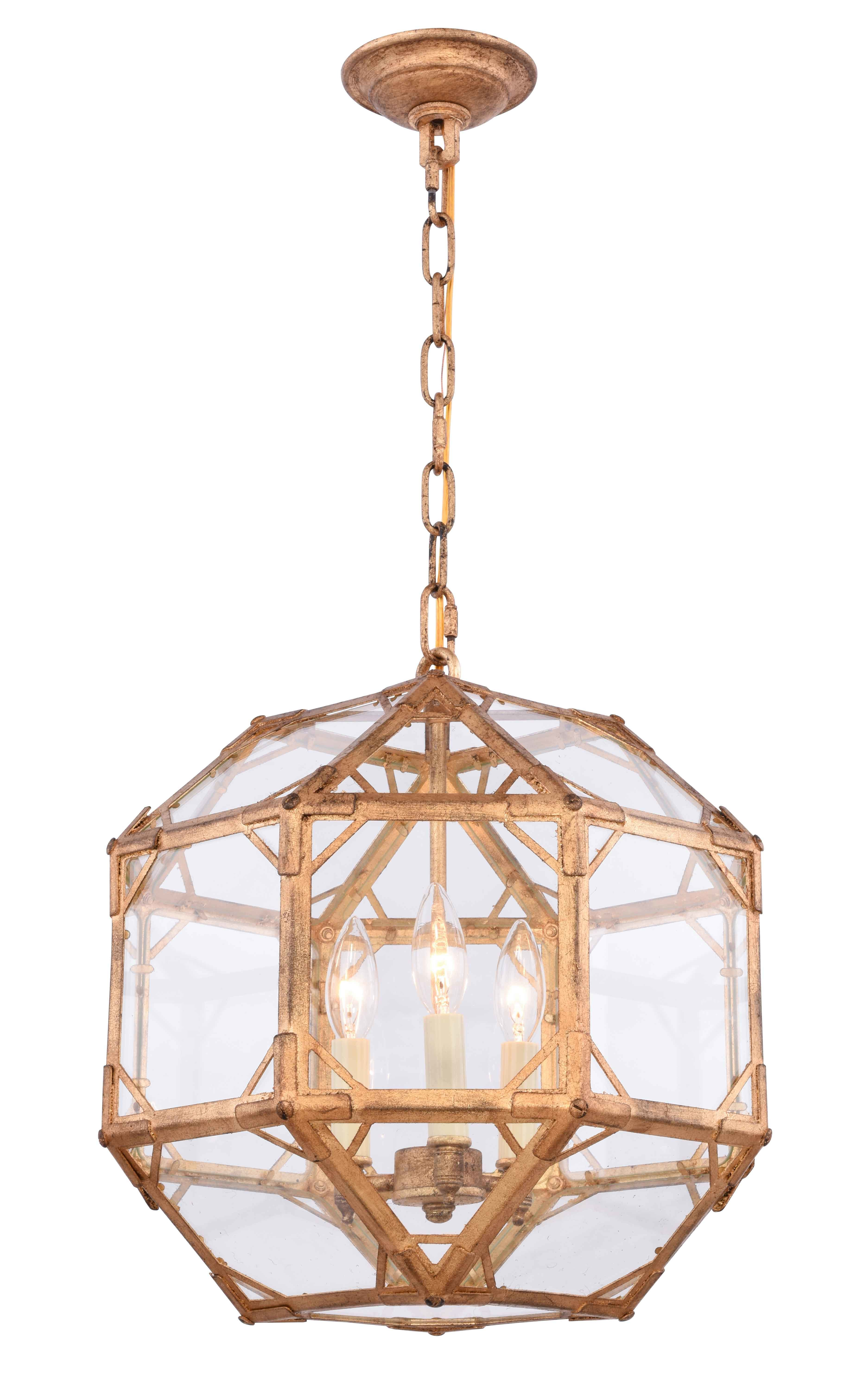 Puccio 3-Light Geometric Chandelier with regard to Cavanagh 4-Light Geometric Chandeliers (Image 25 of 30)