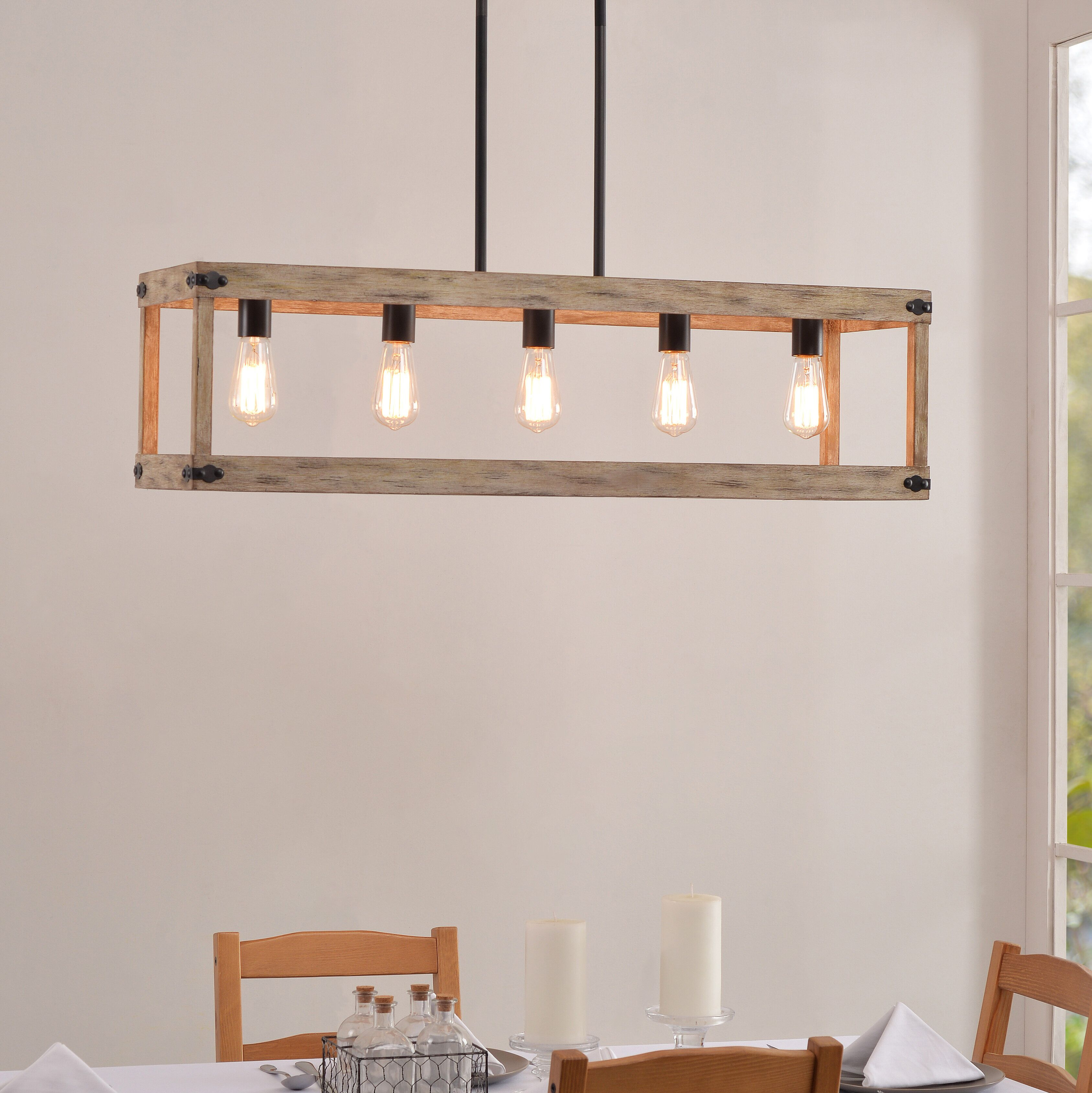 Pulver 5 Light Rectangle Chandelier | Chandeliers In 2019 With Thorne 5 Light Kitchen Island Pendants (View 15 of 30)