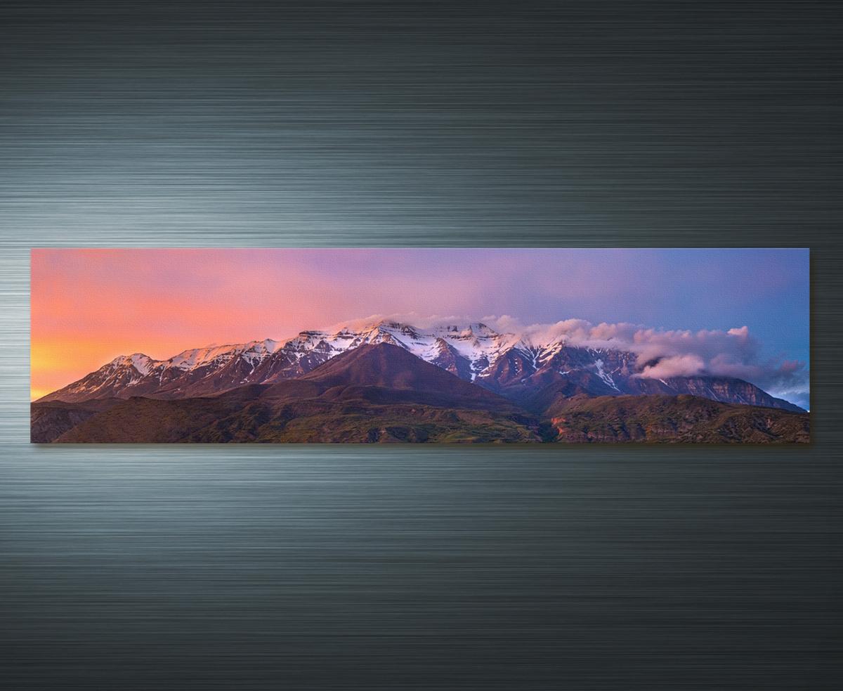 Purple Timpanogos Sunset for Aurora Sun Wall Decor (Image 18 of 30)