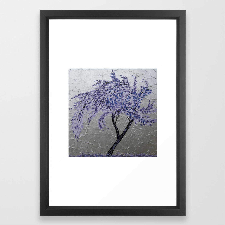 Purple Windswept Tree Framed Art Print Inside Windswept Tree Wall Decor (View 14 of 30)