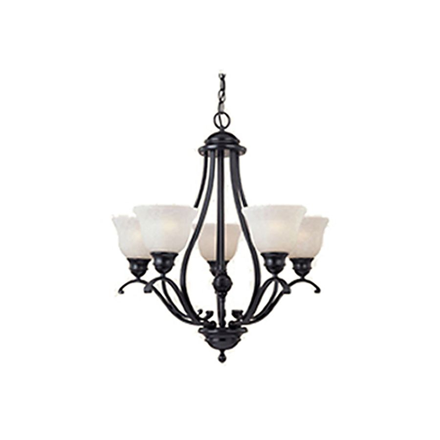Pyramid Creations Linda 26 In 5 Light Black Chandelier Inside Newent 5 Light Shaded Chandeliers (View 6 of 30)