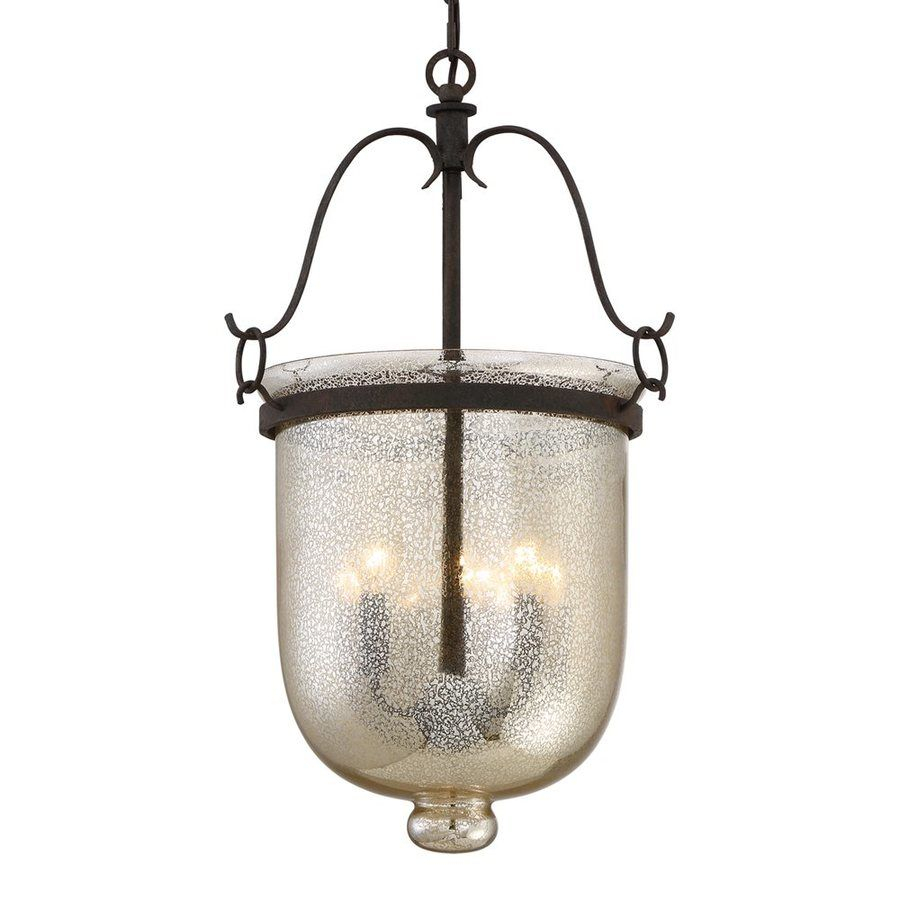 Quoizel Burgess 15-In Rustic Black Vintage Single Mercury inside 3-Light Single Urn Pendants (Image 26 of 30)