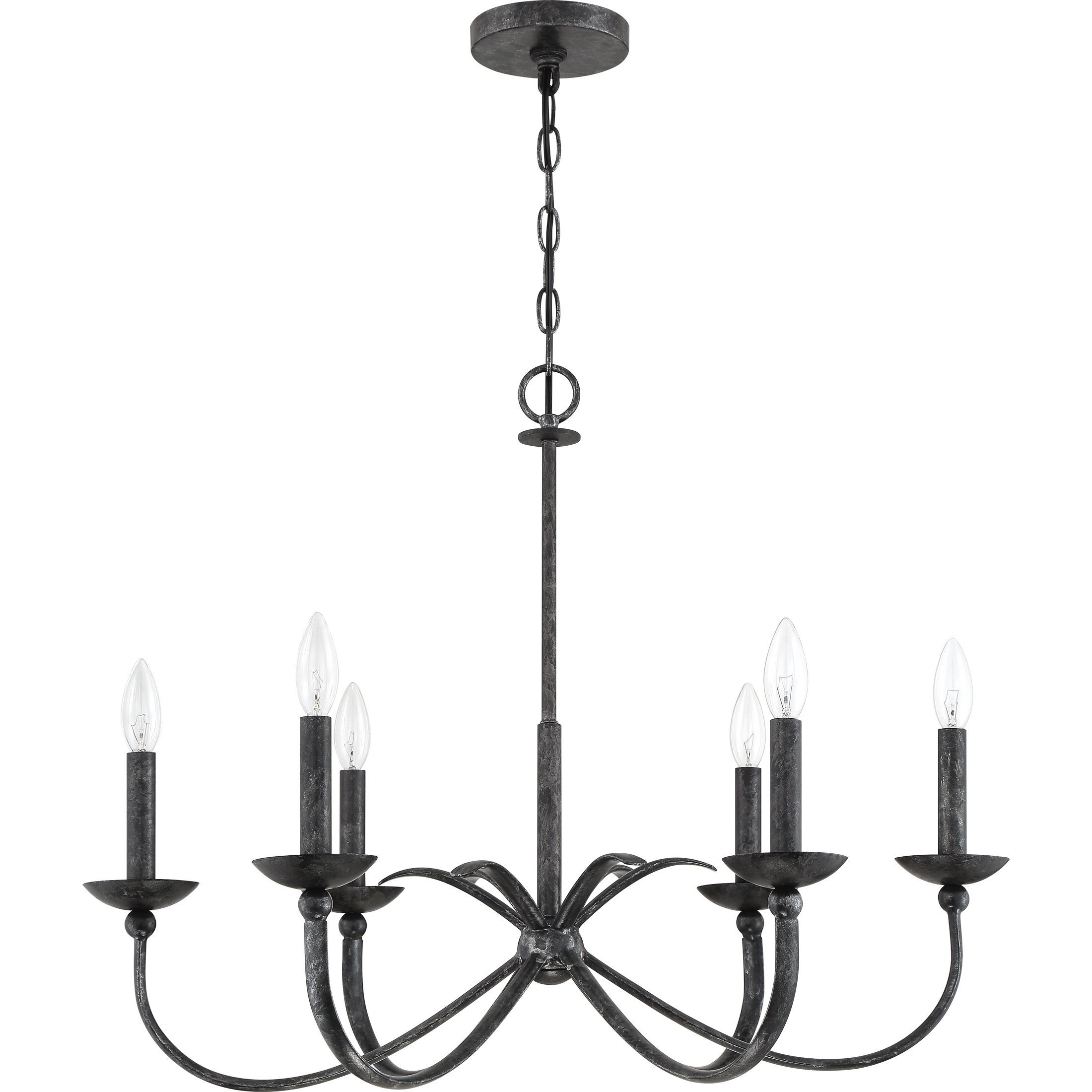 Quoizel Calligraphy Old Black 6 Light Chandelier In 2019 Throughout Hamza 6 Light Candle Style Chandeliers (View 17 of 30)