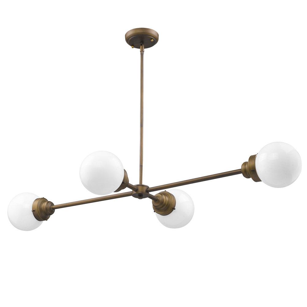 Rabehi 4 Light Sputnik Chandelier Pertaining To Bautista 5 Light Sputnik Chandeliers (View 15 of 30)