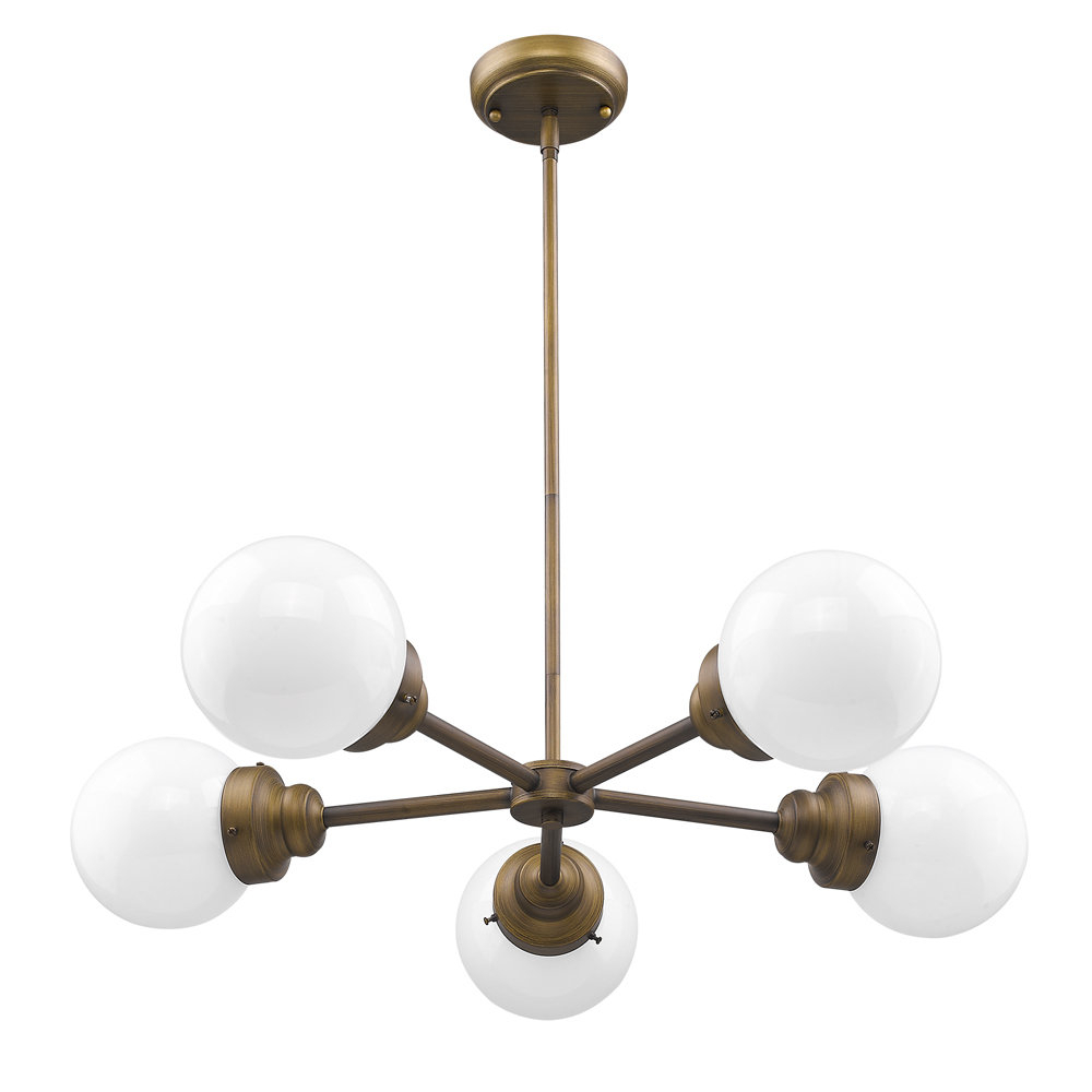 Rabehi 5 Light Sputnik Chandelier With Bautista 5 Light Sputnik Chandeliers (View 7 of 30)