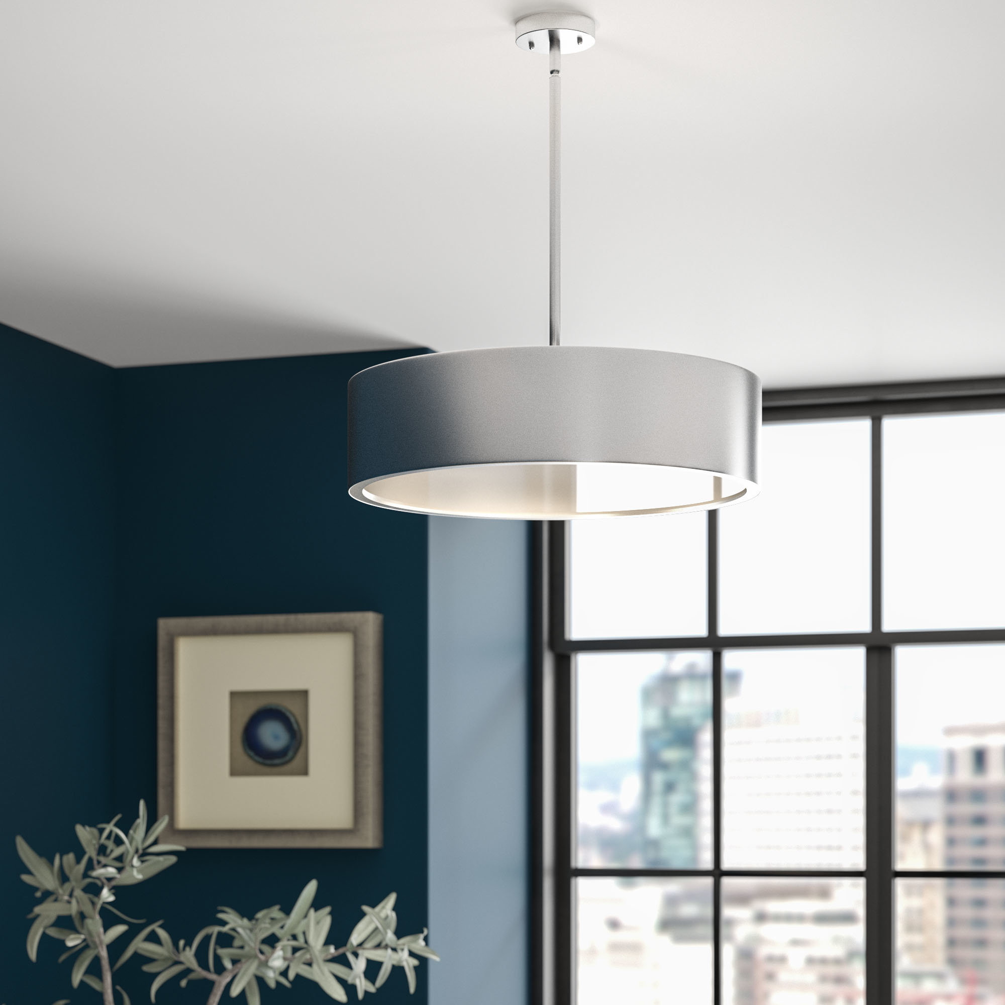 Radtke 3 Light Single Drum Pendant For Burslem 3 Light Single Drum Pendants (Gallery 4 of 30)