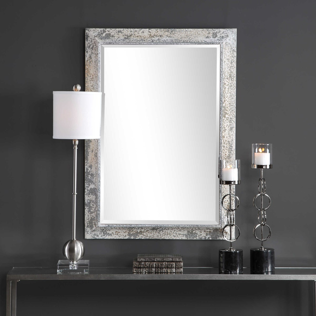 Raffi Mirror In Silver Frame Accent Mirrors (View 19 of 30)