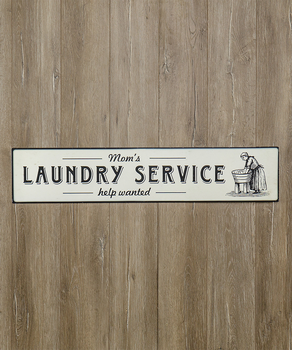 Ragon House White 'mom's Laundry Service' Wall Sign Pertaining To Metal Laundry Room Wall Decor (View 20 of 30)