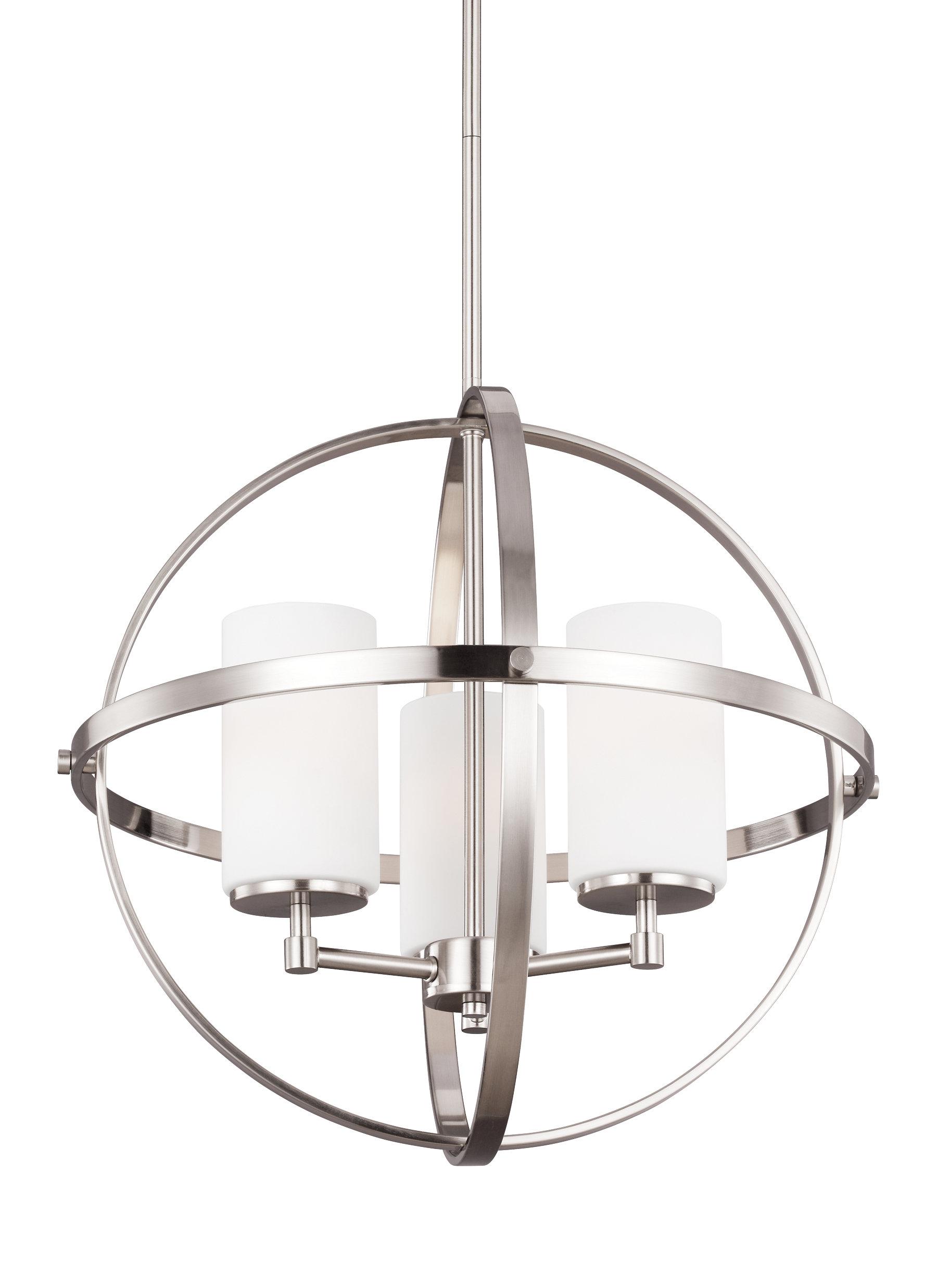Raine 3 Light Globe Chandelier Regarding La Sarre 3 Light Globe Chandeliers (View 9 of 30)