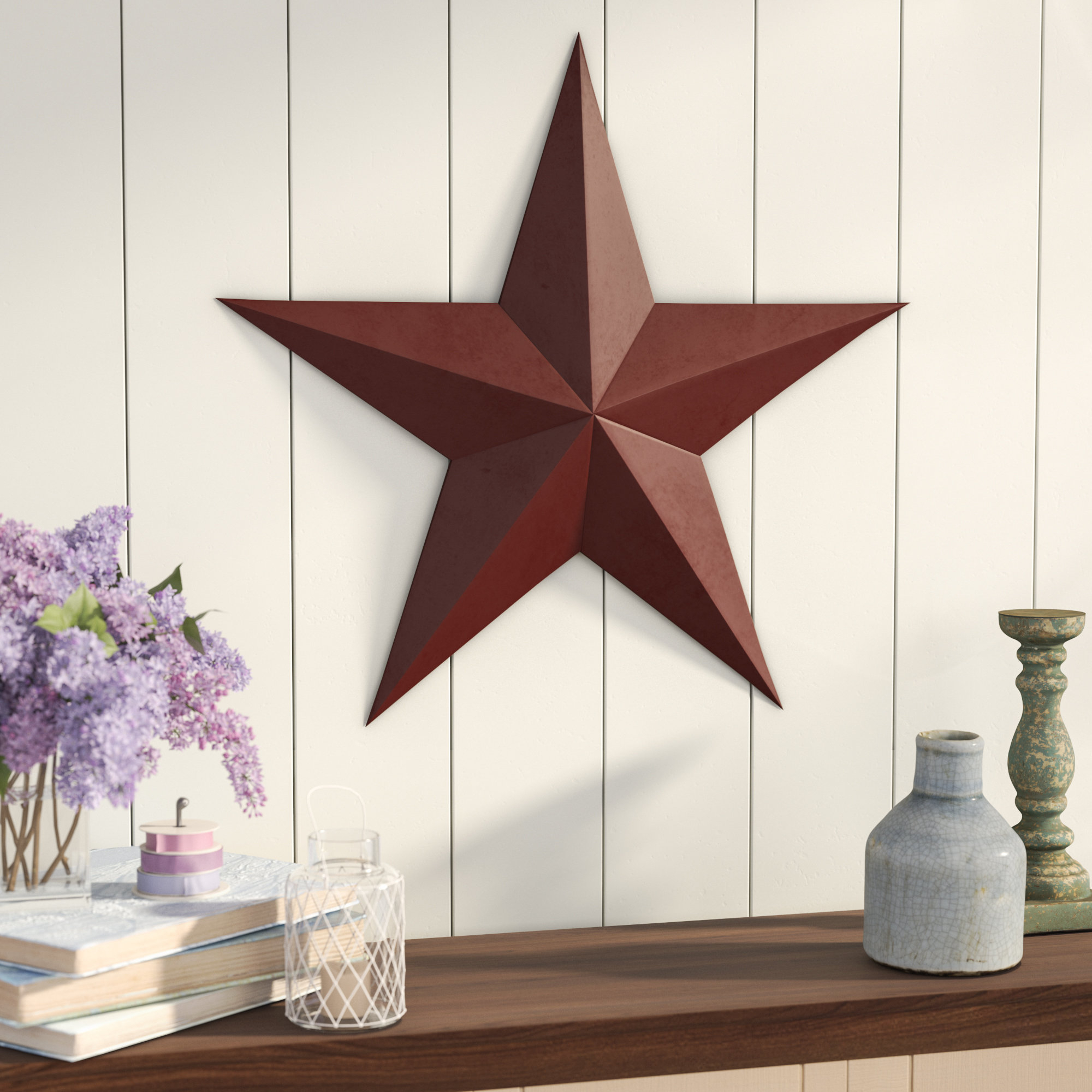 Featured Photo of Raised Star Wall Decor