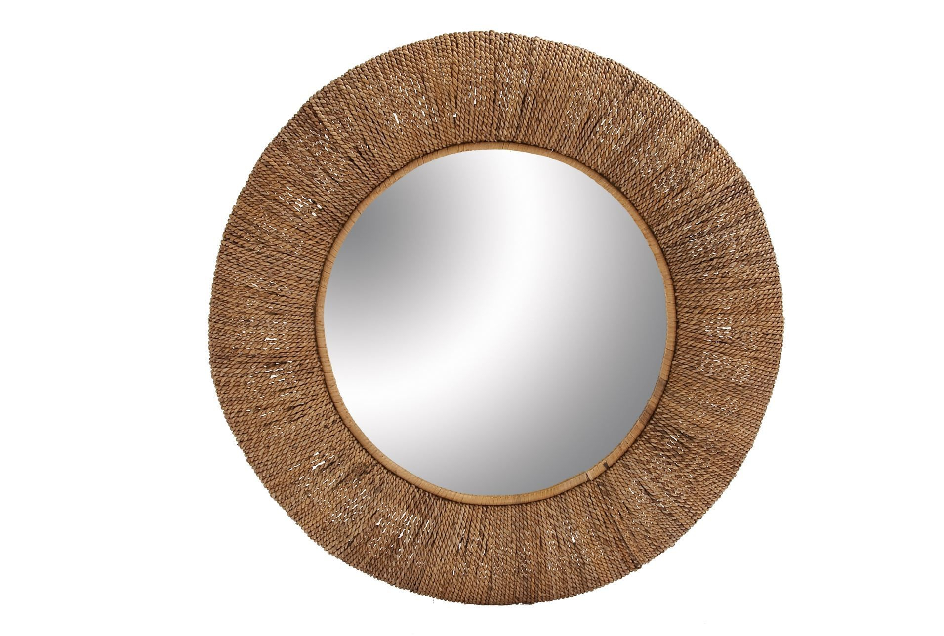 Rattan Circle Mirror  36X36 | Living Spaces | 44 Living Pertaining To Needville Modern & Contemporary Accent Mirrors (Gallery 30 of 30)