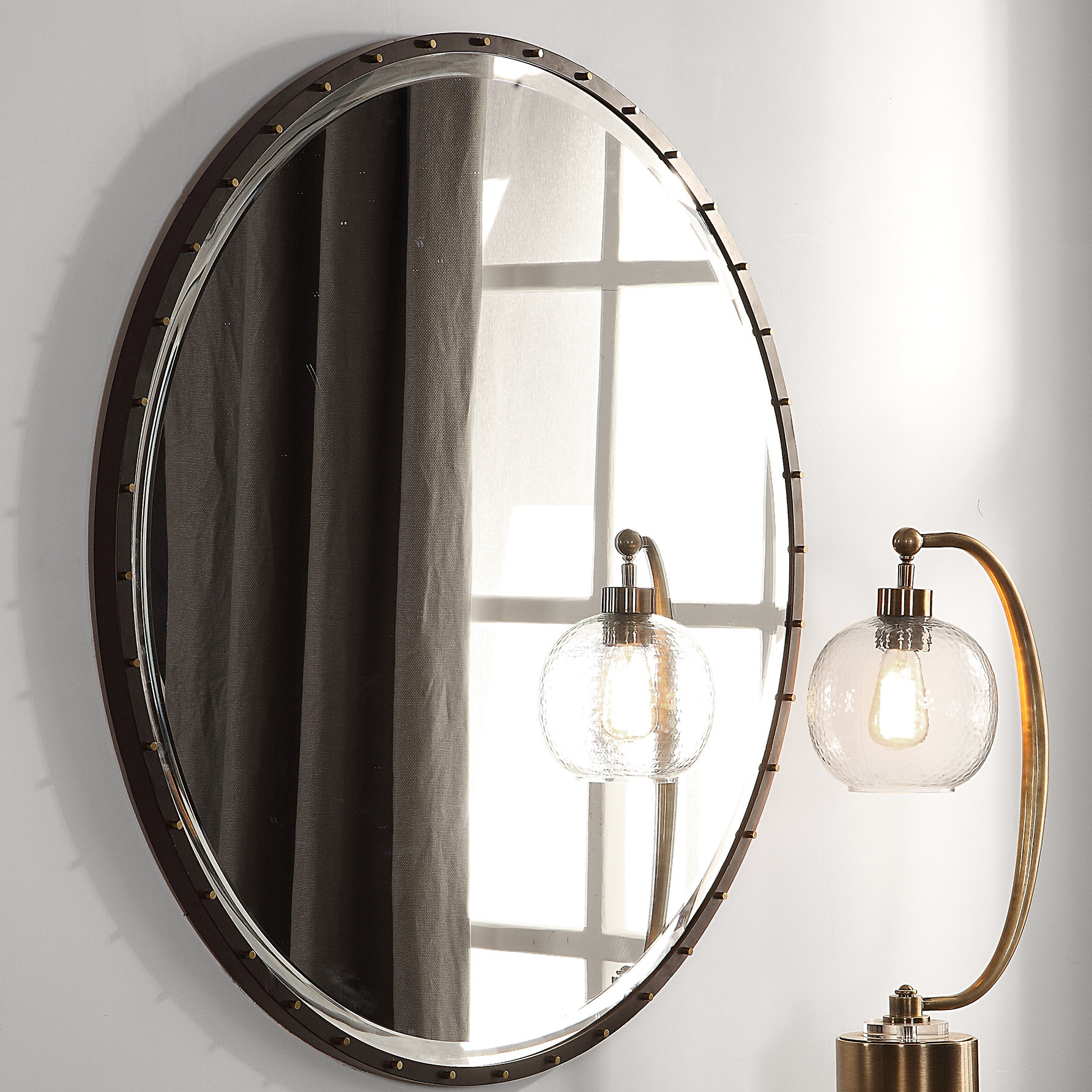 Rayshawn Round Accent Mirror Throughout Luna Accent Mirrors (Gallery 15 of 30)