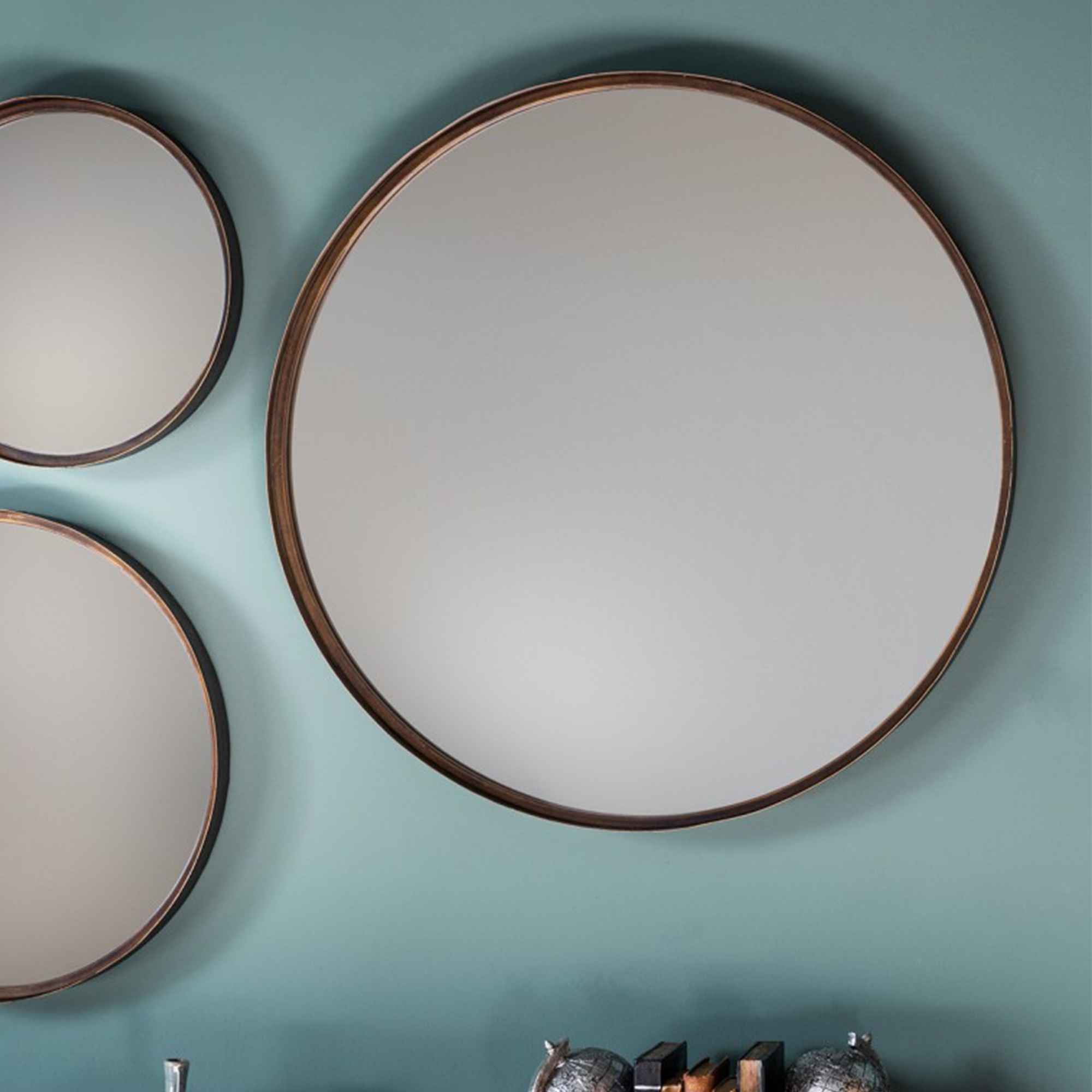 Reading Round Mirror (2 Pack) Pertaining To Marion Wall Mirrors (Gallery 21 of 30)