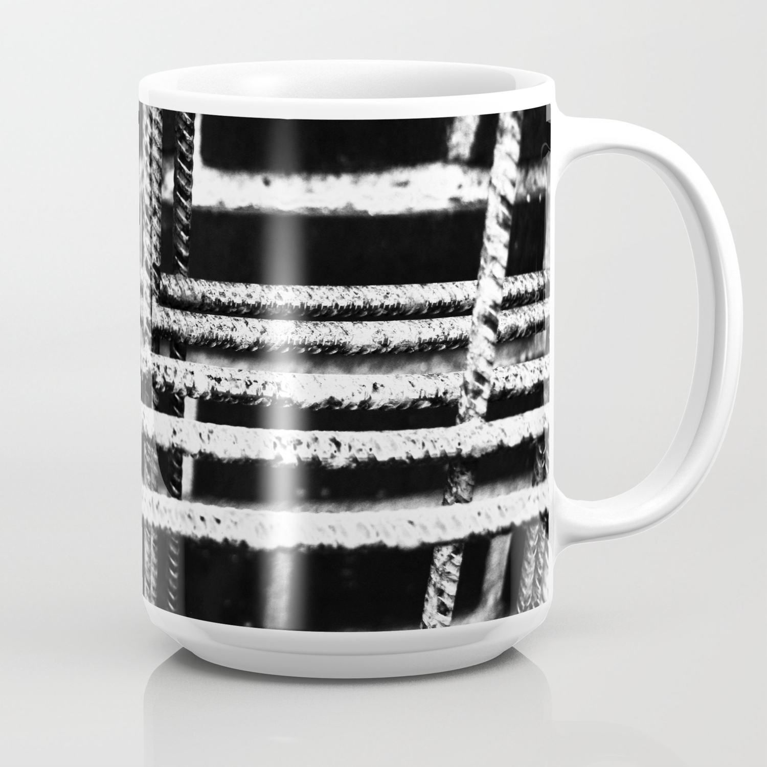 Rebar And Brick - Industrial Abstract Coffee Mug with Coffee Sign With Rebar Wall Decor (Image 15 of 30)