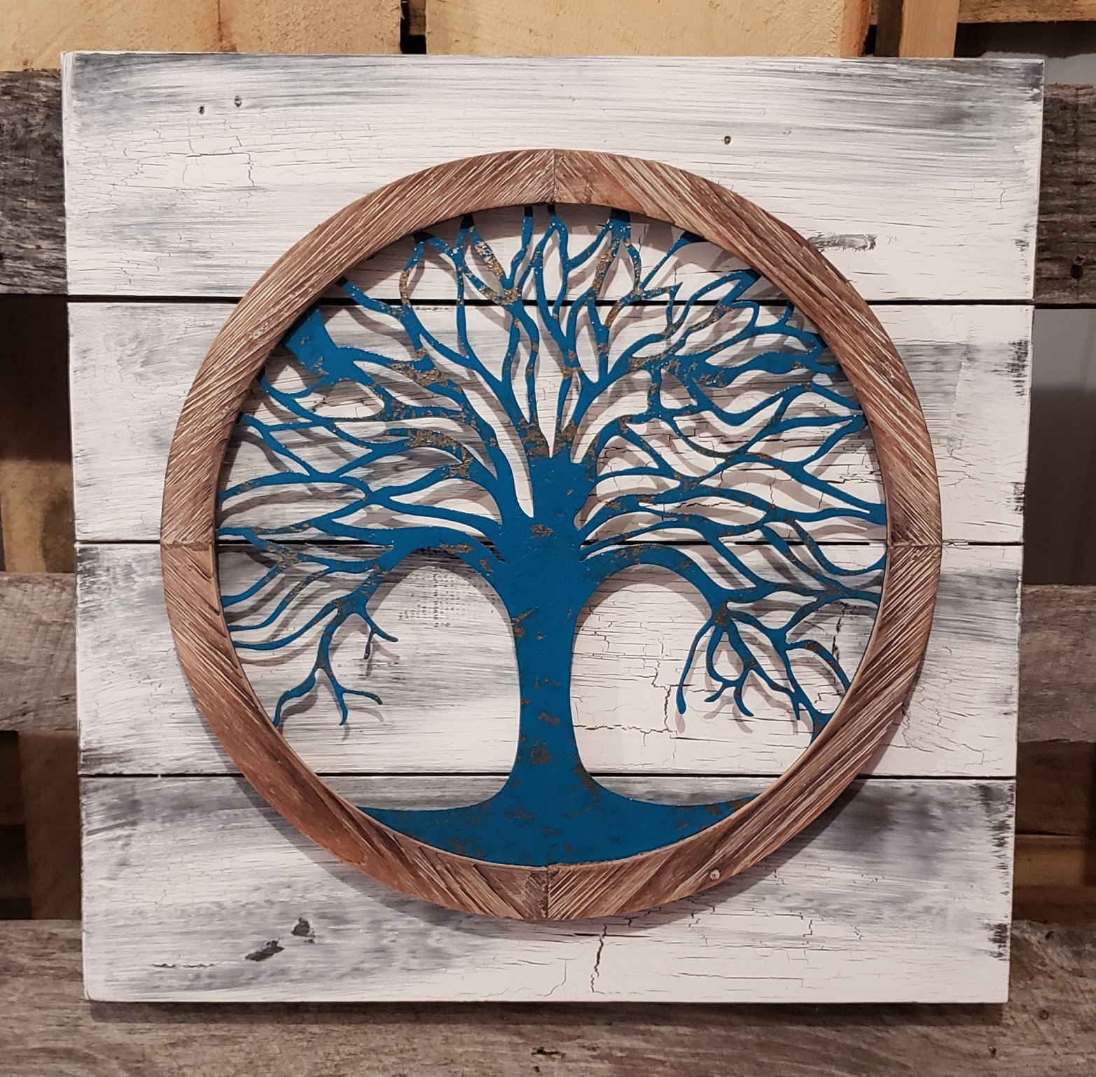 Reclaimed Wood Tree Of Life Wall Art, Metal Wall Art, Metal Tree Wall Art,  Tree Of Life Wall Decor, Tree Wall Decor, Tree Wall Art For Tree Of Life Wall Decor (Gallery 6 of 30)