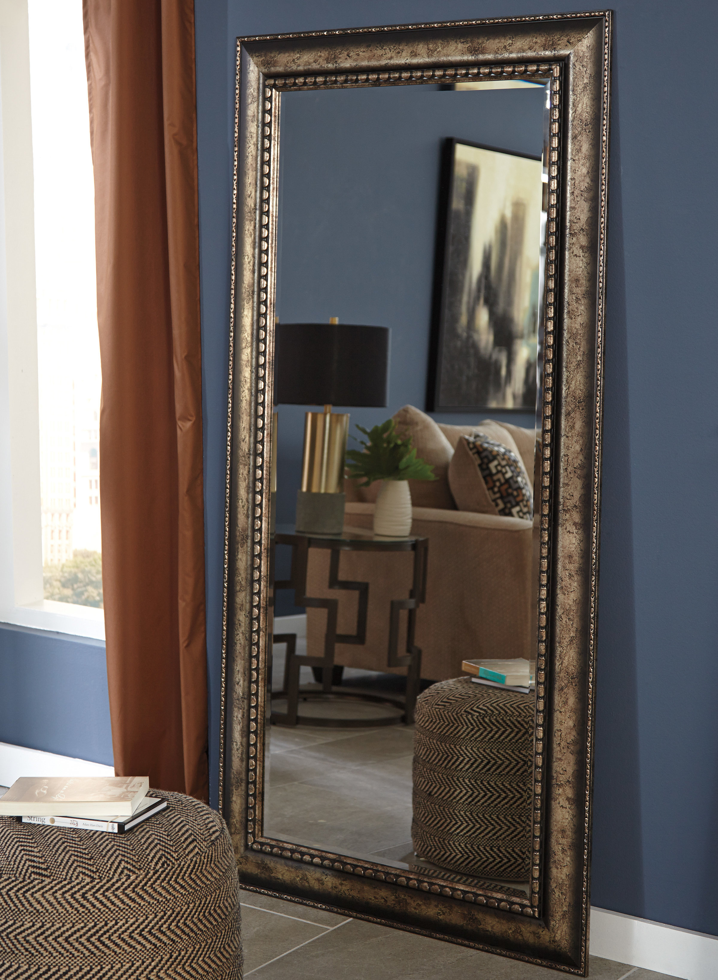 Rectangle Antique Silver Wall Mirror inside Boyers Wall Mirrors (Image 24 of 30)