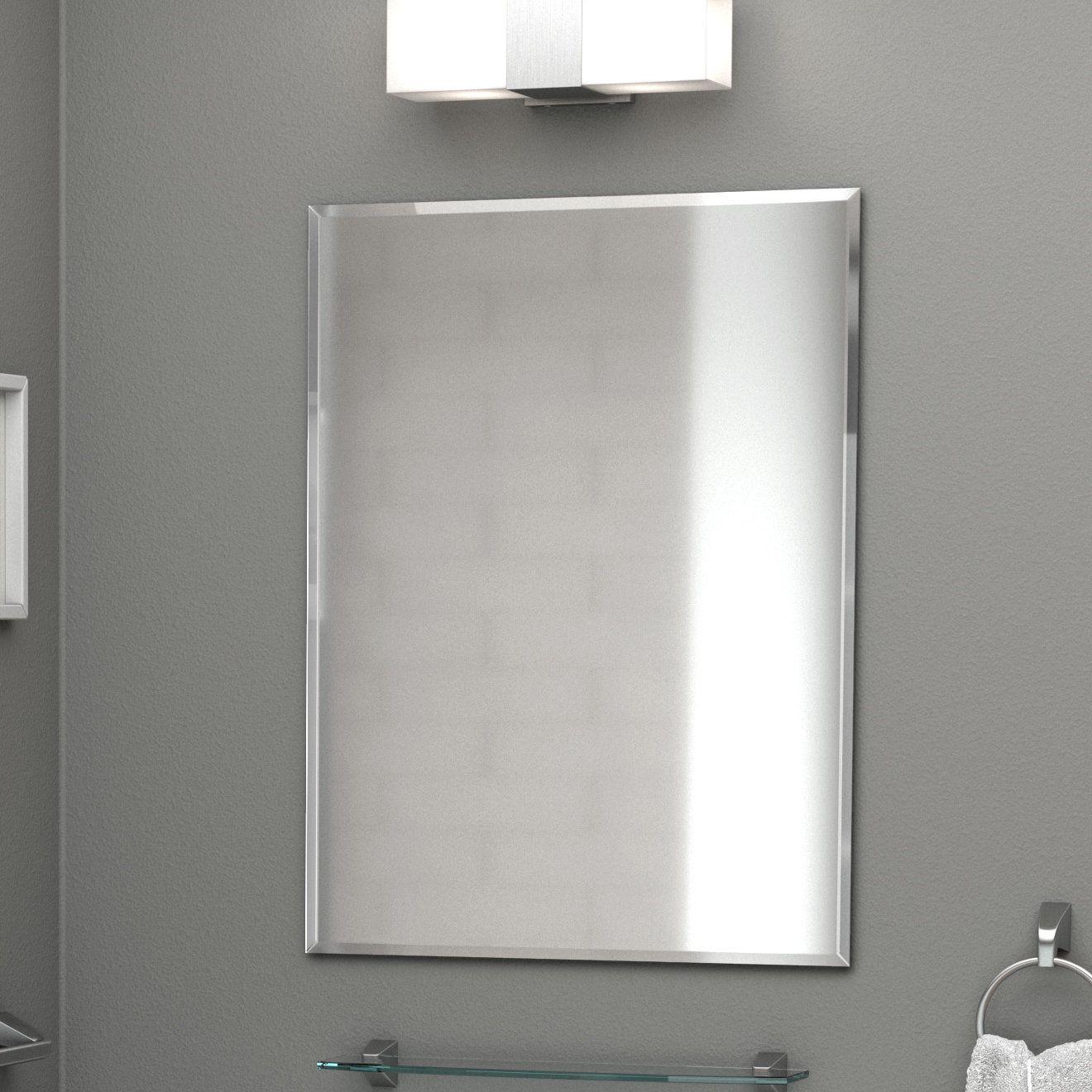 Rectangle Flush Accent Wall Mirror Inside Rectangle Accent Wall Mirrors (Gallery 14 of 30)