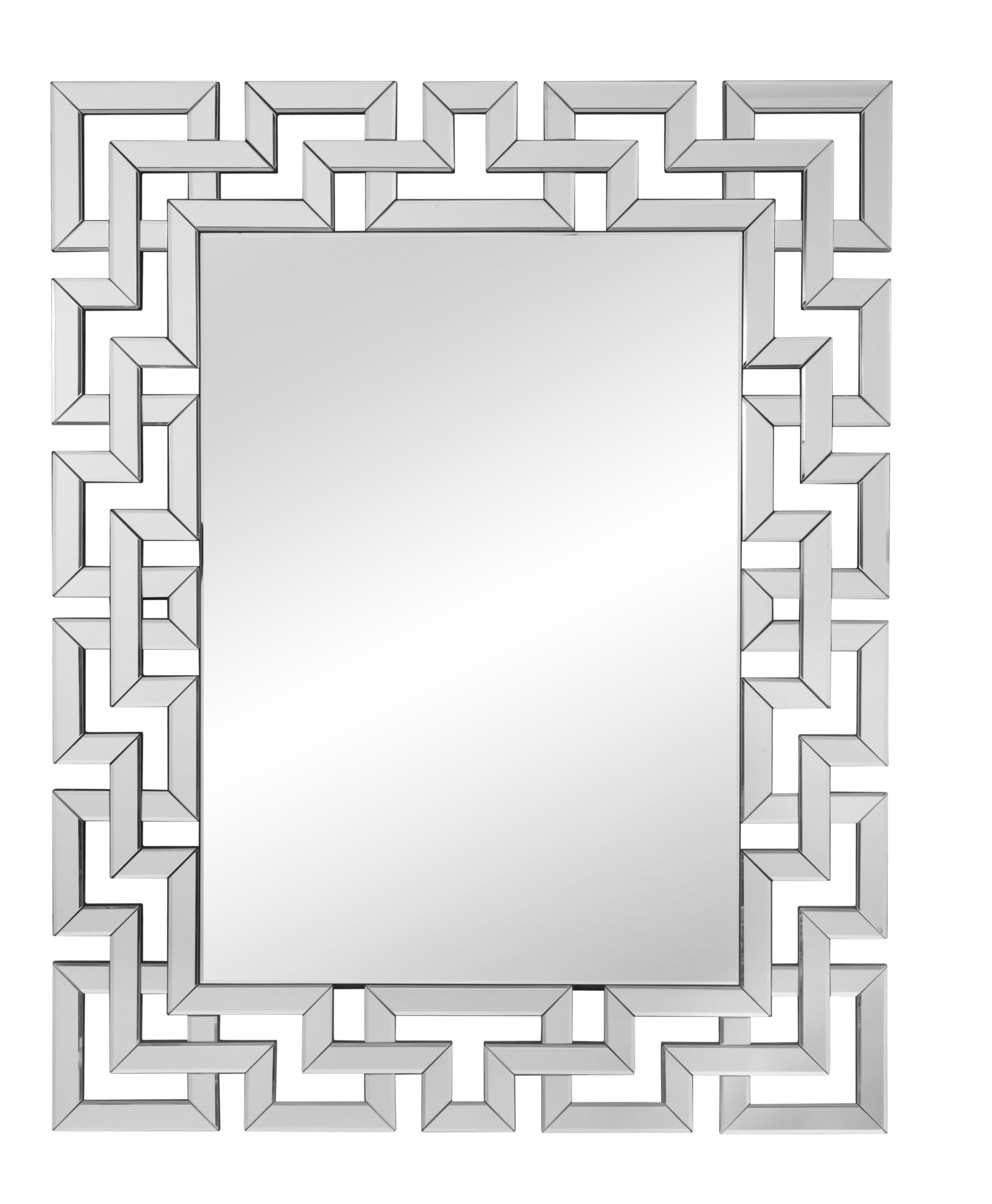 Rectangle Ornate Geometric Wall Mirror in Rectangle Ornate Geometric Wall Mirrors (Image 21 of 30)
