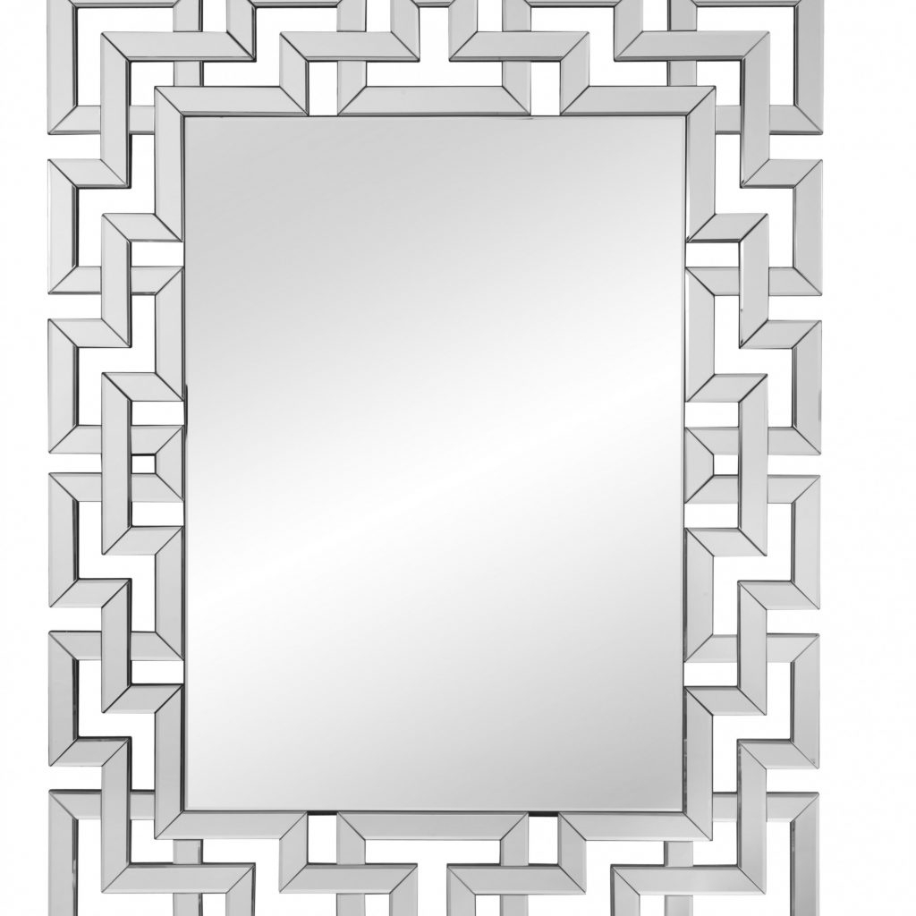 Rectangle Ornate Geometric Wall Mirror & Reviews | Joss intended for Rectangle Ornate Geometric Wall Mirrors (Image 20 of 30)