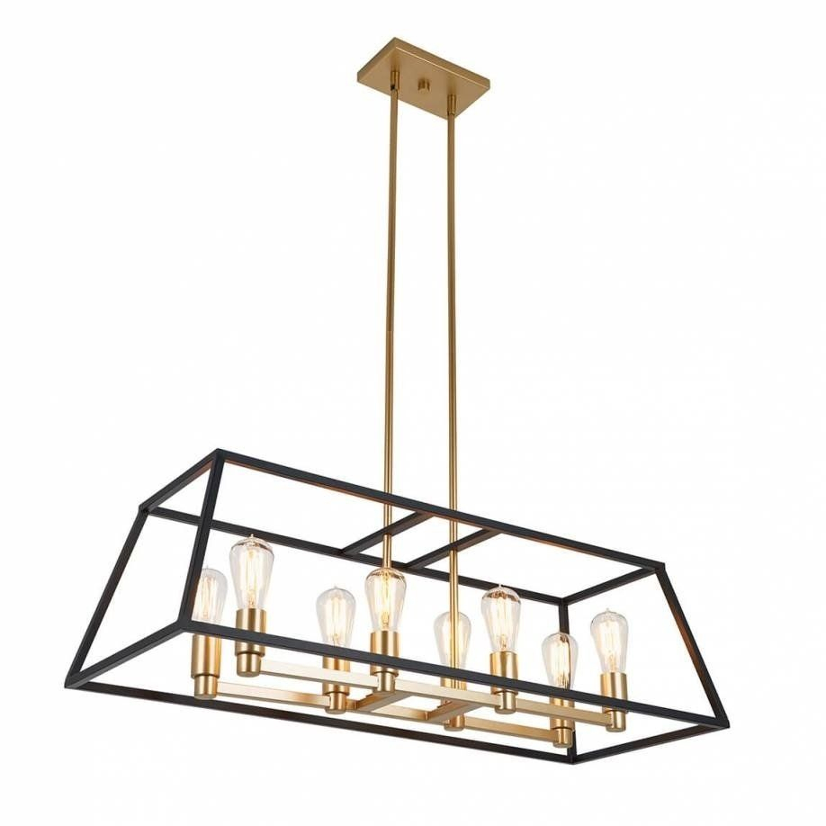 Rectangular 8 Pendant Light Fixture, Kitchen Island Throughout Odie 8 Light Kitchen Island Square / Rectangle Pendants (Gallery 8 of 30)