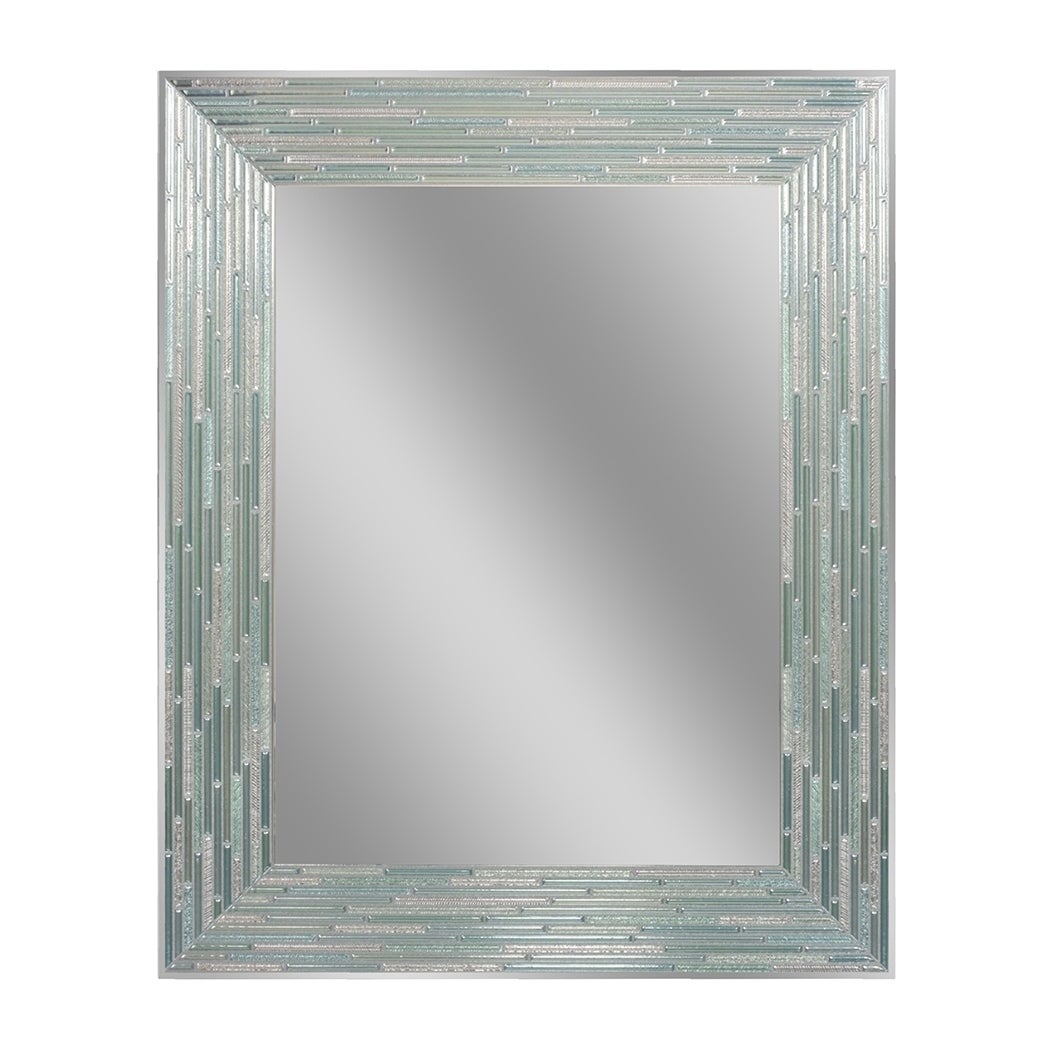 Rectangular, Wall Mirror | Shop Online At Overstock Regarding Rectangle Ornate Geometric Wall Mirrors (Gallery 11 of 30)