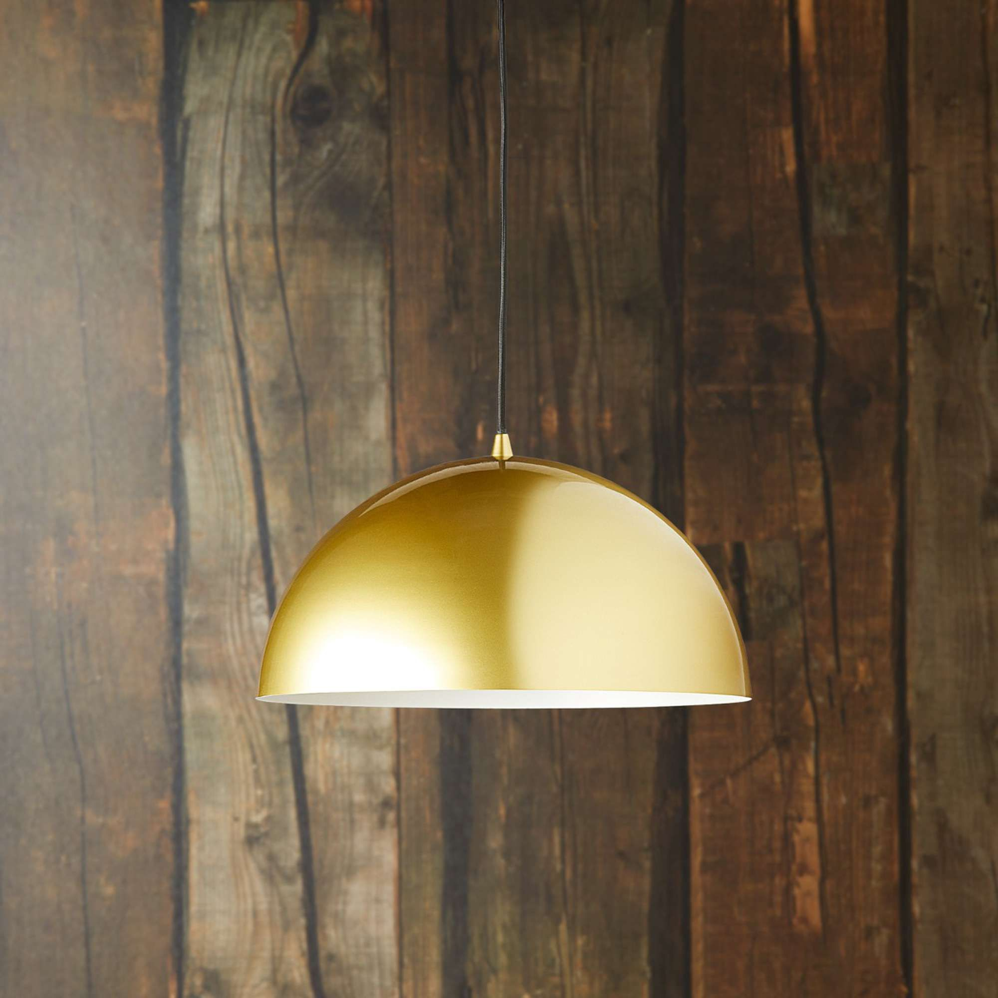Regular Goodhew Pendant In Gold With A White Interior With Amara 3 Light Dome Pendants (Image 29 of 30)