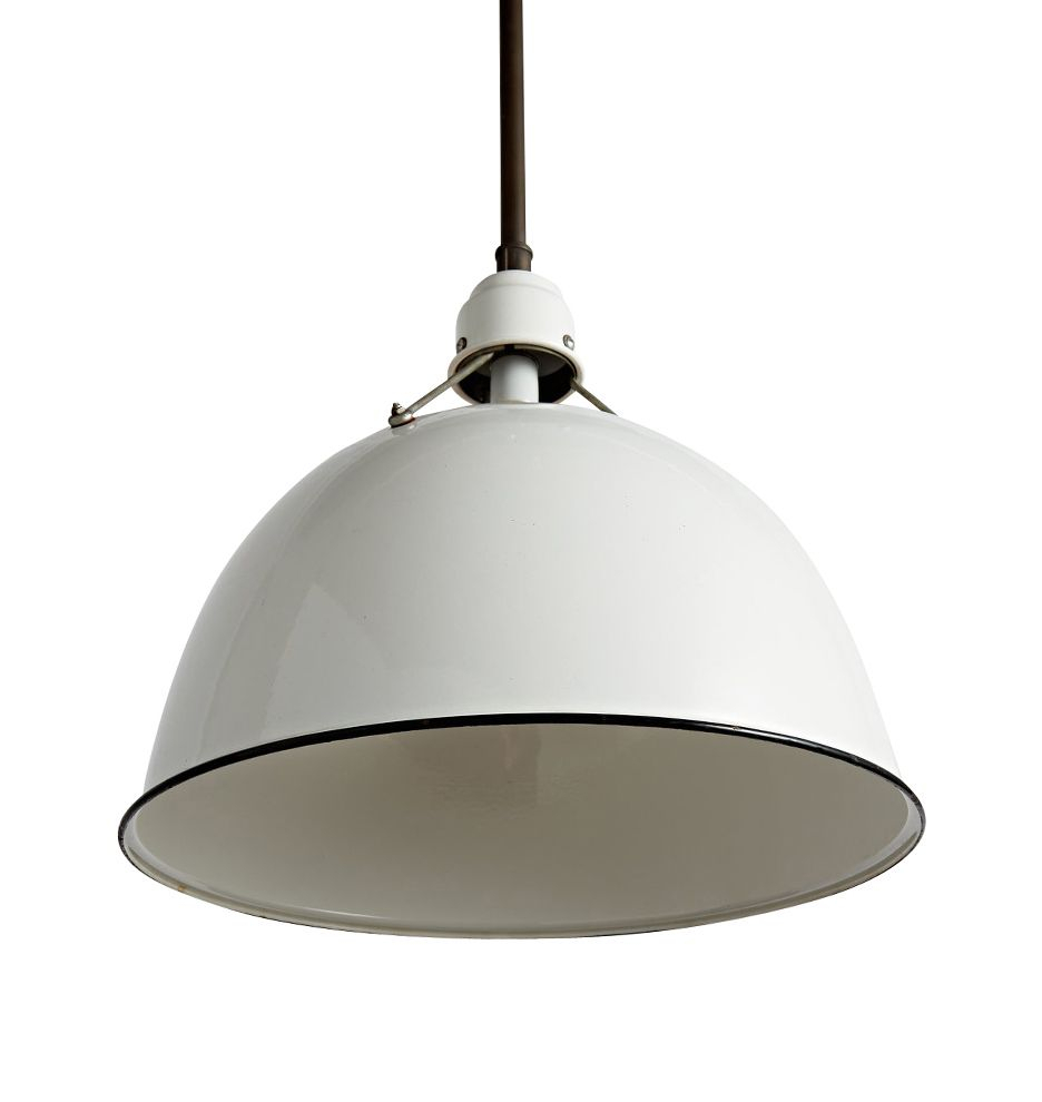 "Rejuvenation – Enormous Industrial Pendant With 24"" Enamel Inside Fresno Dome 1 Light Bell Pendants (Gallery 26 of 30)"